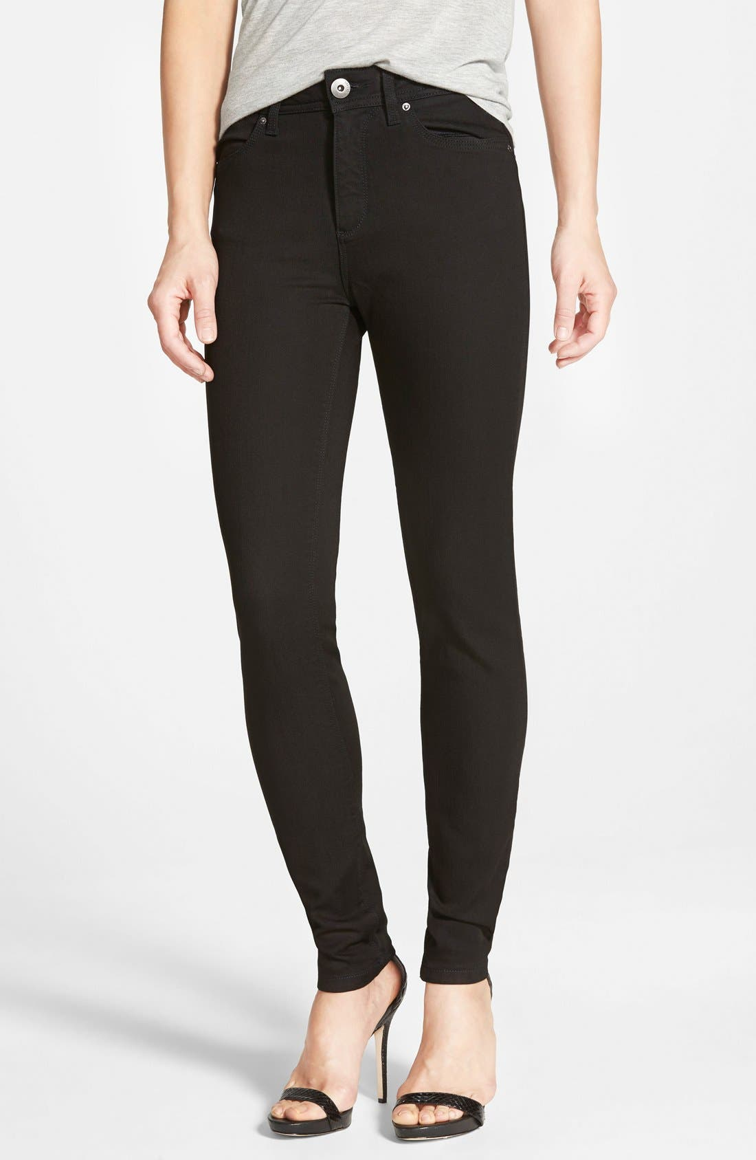 Alternate Image 1 Selected - DL 1961 'Nina' High Rise Skinny Jeans (Riker)