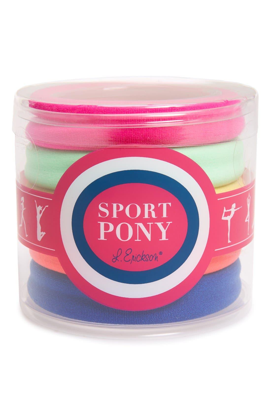 Alternate Image 1 Selected - L. Erickson Set of 5 Sport Ponytail Holders
