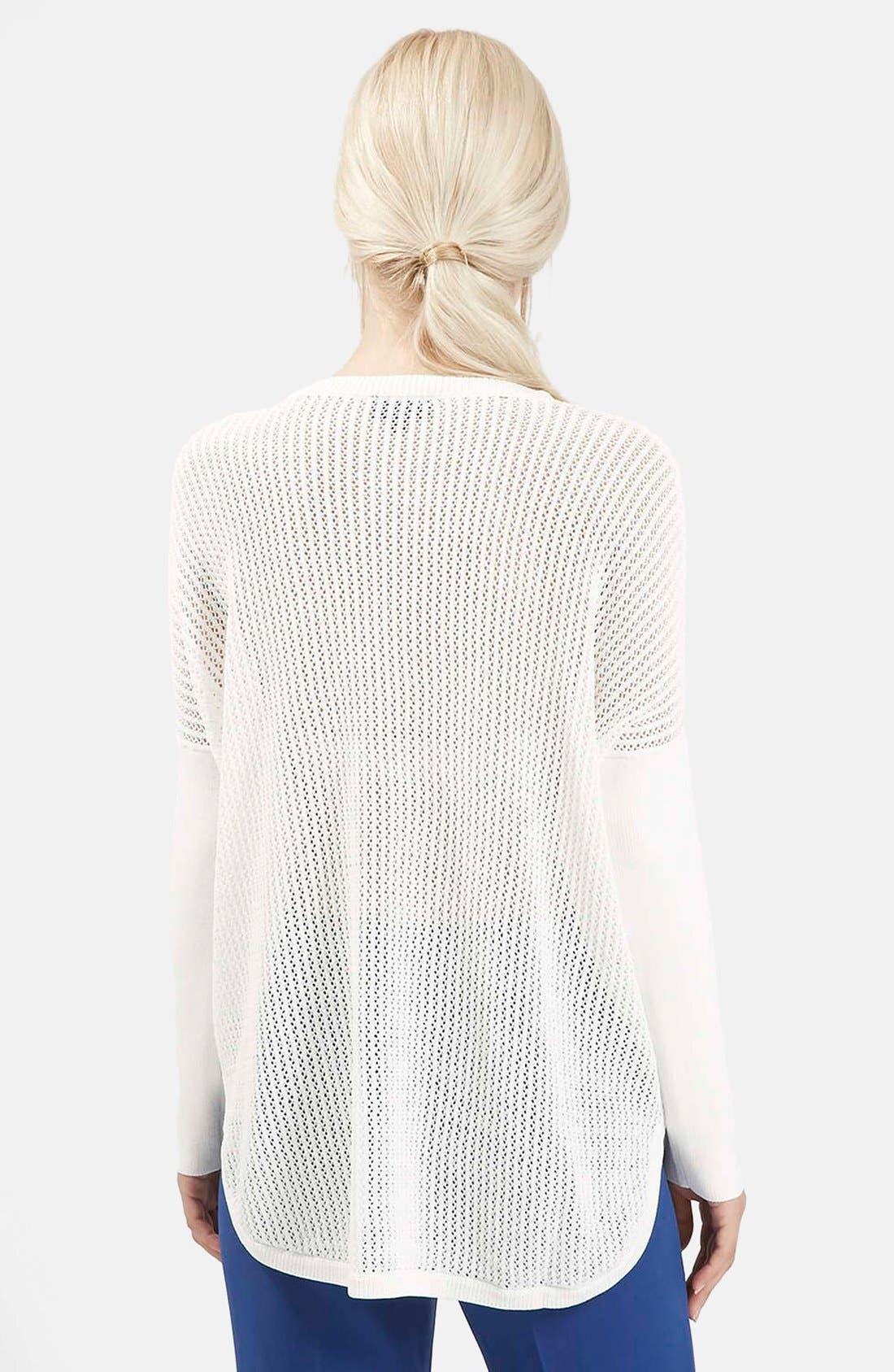 Alternate Image 2  - Topshop Paneled Pointelle Sweater