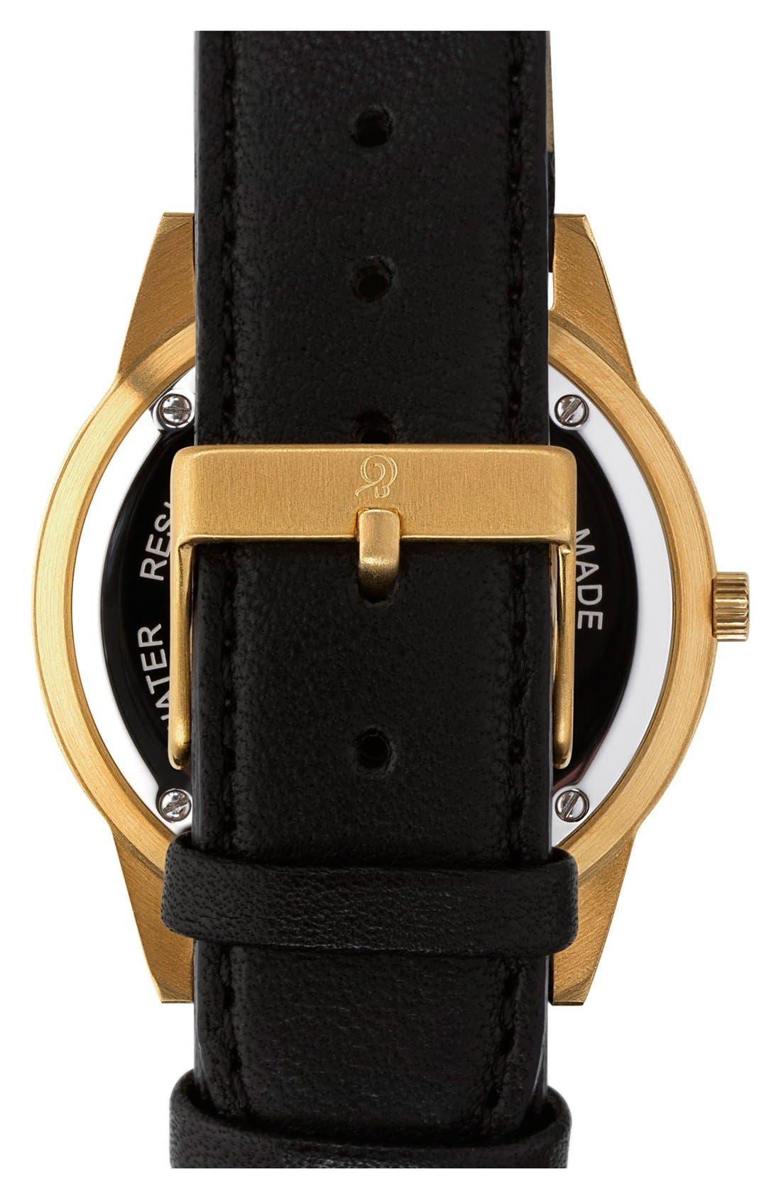 Alternate Image 2  - Larsson & Jennings 'Saxon' Leather Strap Watch, 39mm