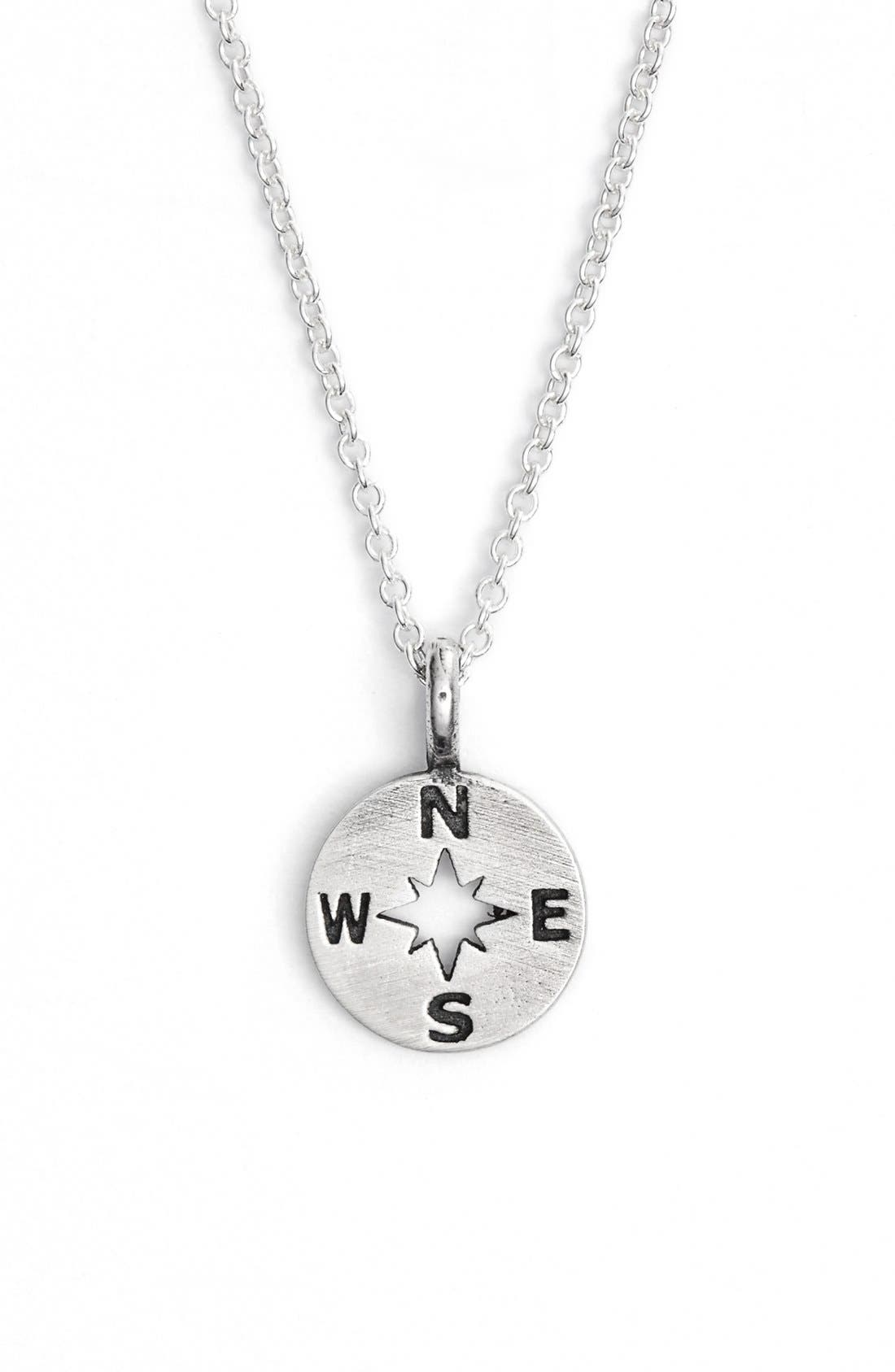 Alternate Image 2  - Dogeared 'Going Places' Compass Pendant Necklace