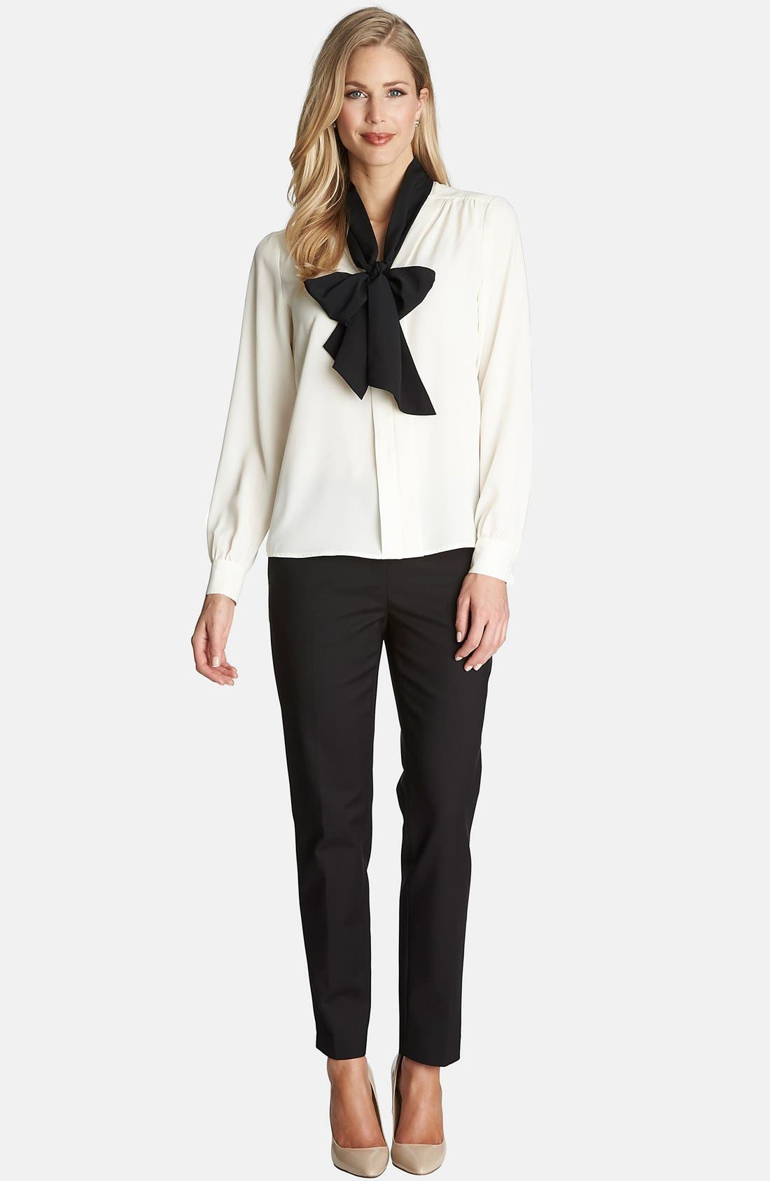 Alternate Image 3  - CeCe by Cynthia Steffe Contrast Bow Neck Blouse