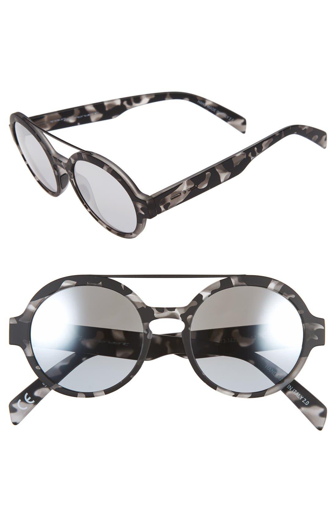 Alternate Image 1 Selected - Italia Independent 51mm Round Sunglasses