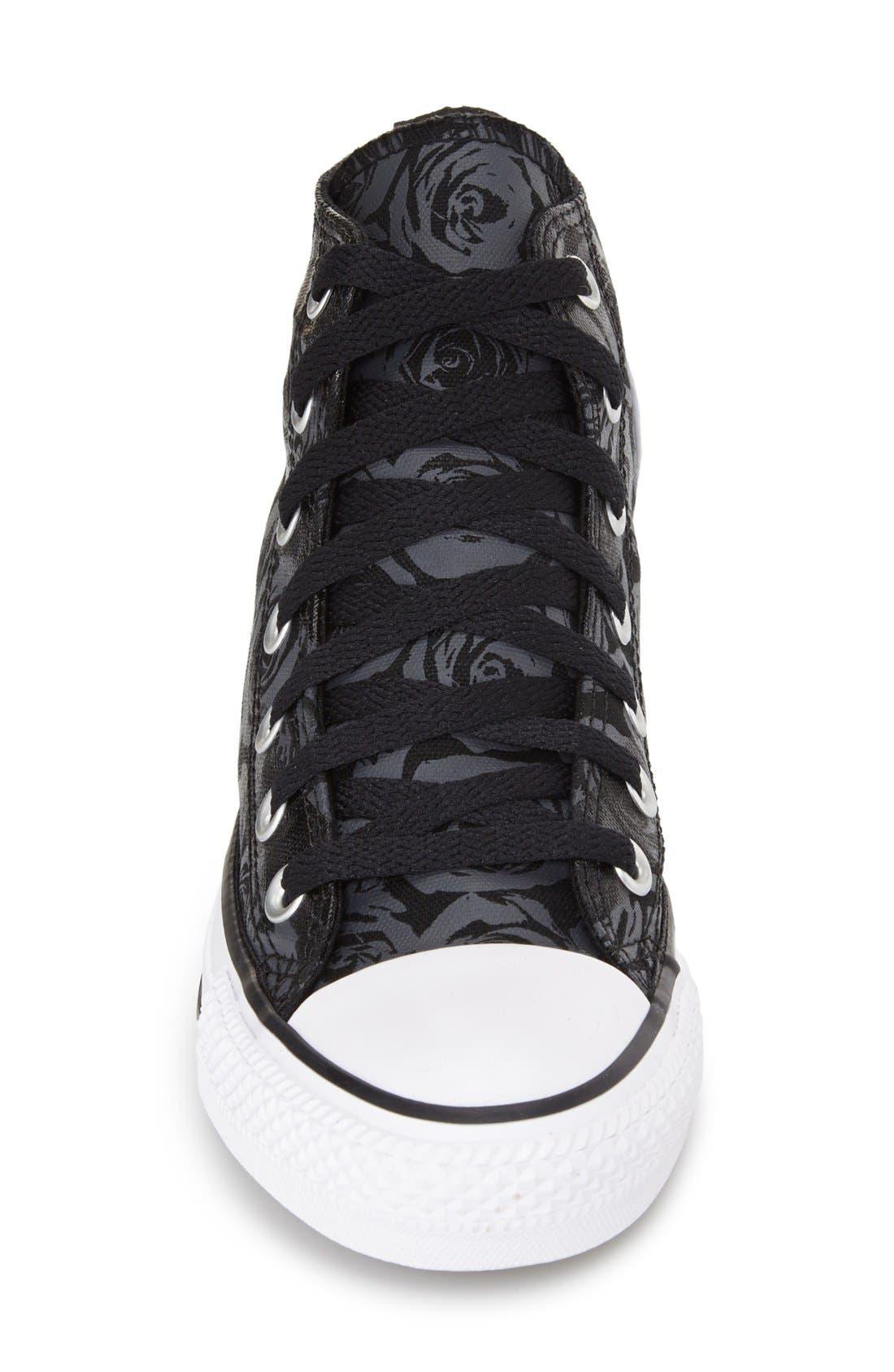 Alternate Image 3  - Converse Chuck Taylor® All Star® Rose Print High Top Sneaker (Women)