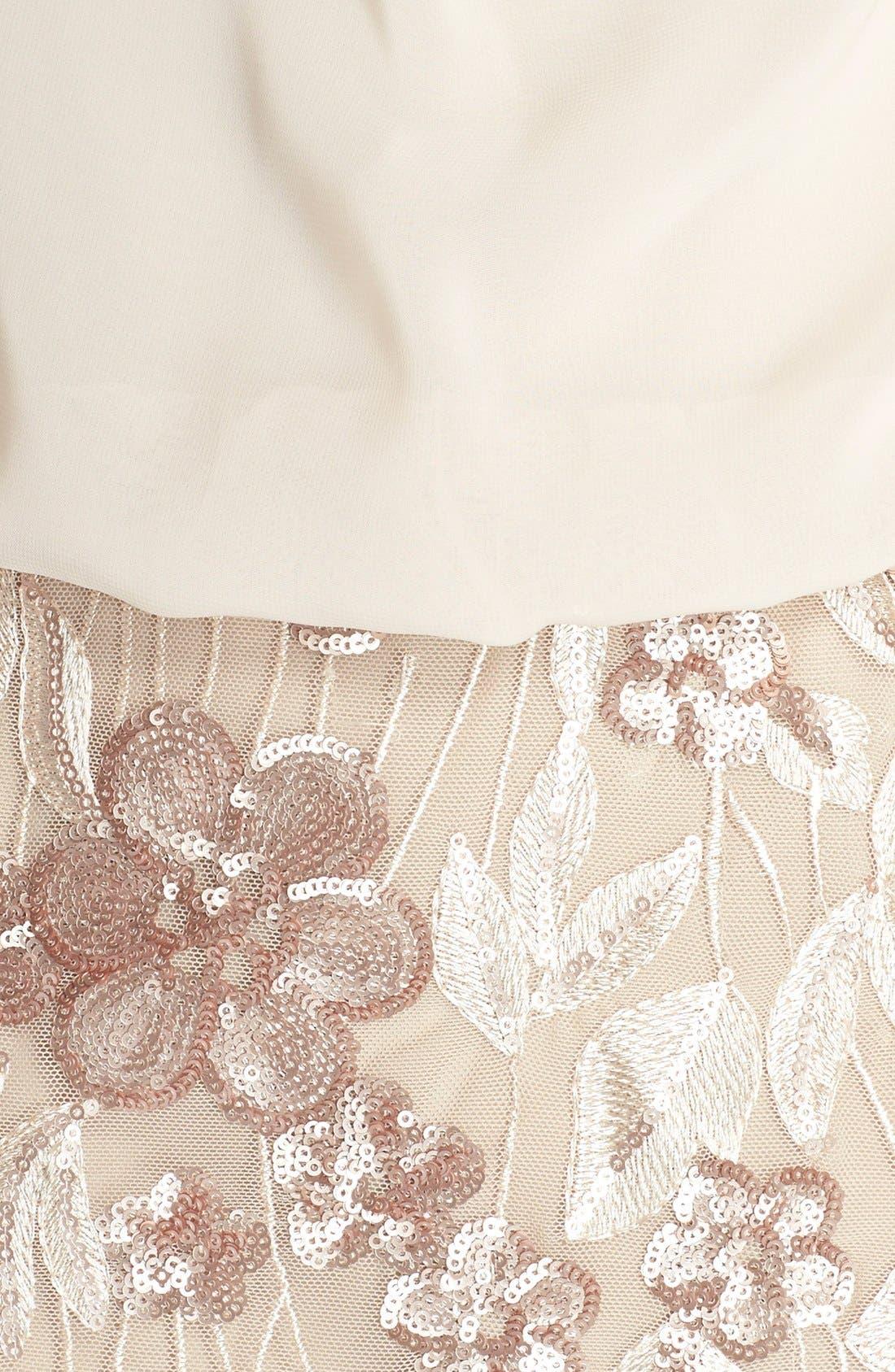 Alternate Image 4  - Aidan by Aidan Mattox Floral Sequin Blouson Dress