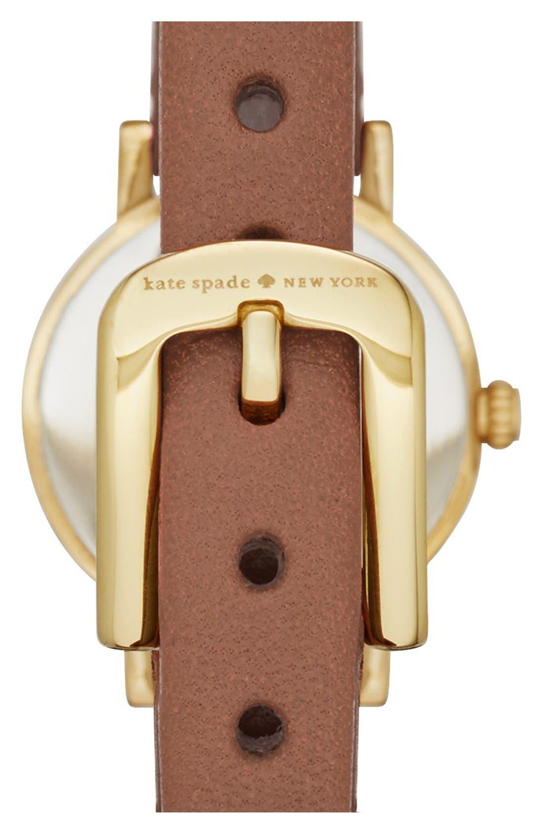 Alternate Image 2  - kate spade new york 'metro' leather strap watch, 20mm