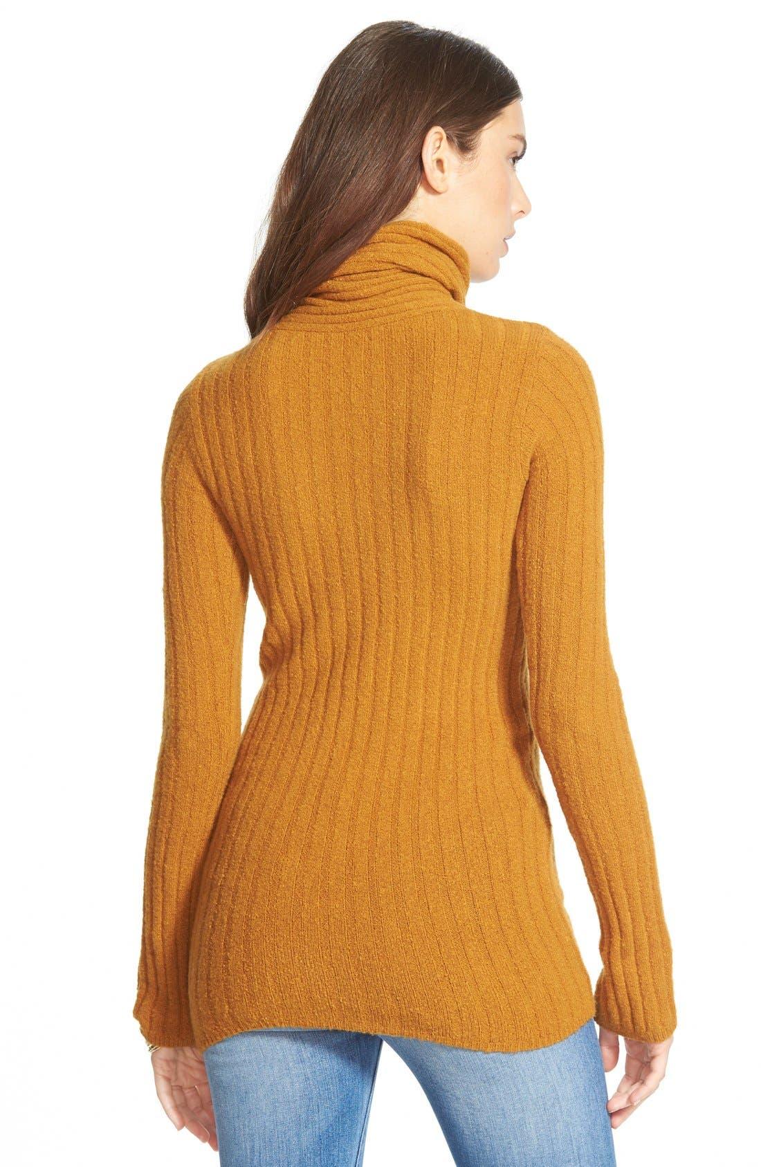 Alternate Image 2  - Free People Ribbed Turtleneck Sweater