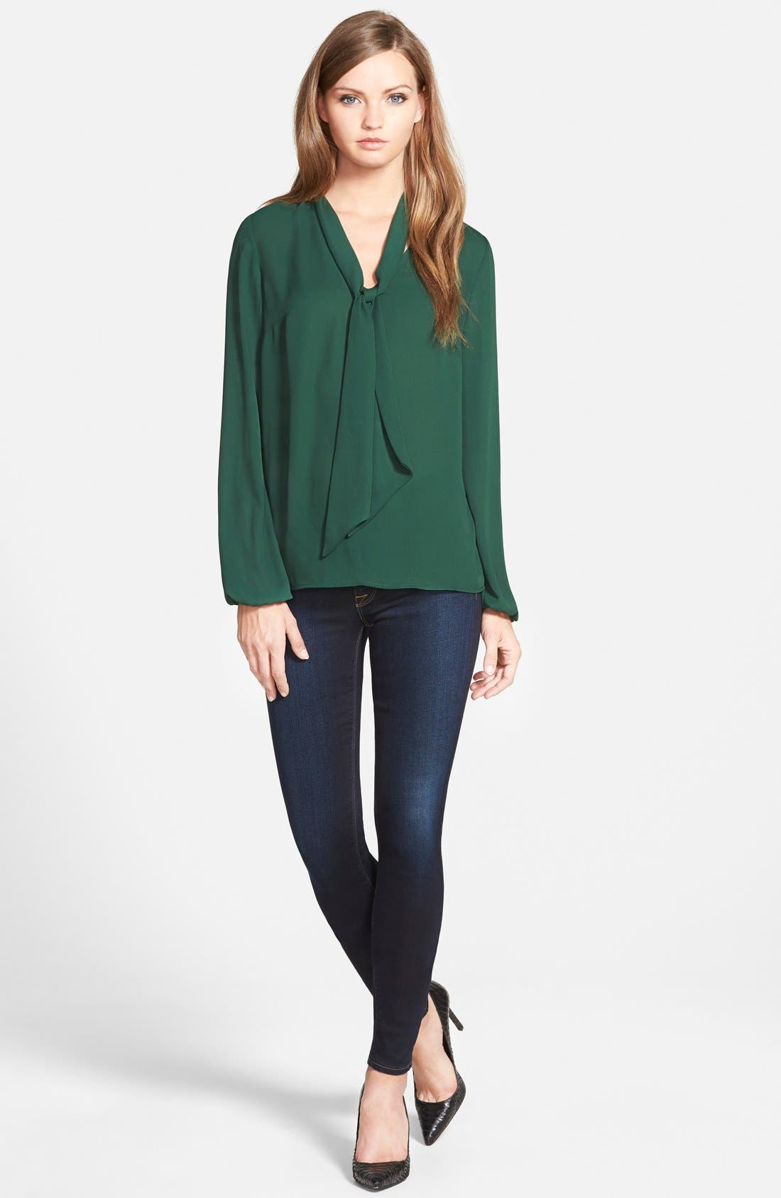 Alternate Image 4  - Bailey 44 Long Sleeve Tie Neck Blouse (Nordstrom Exclusive)