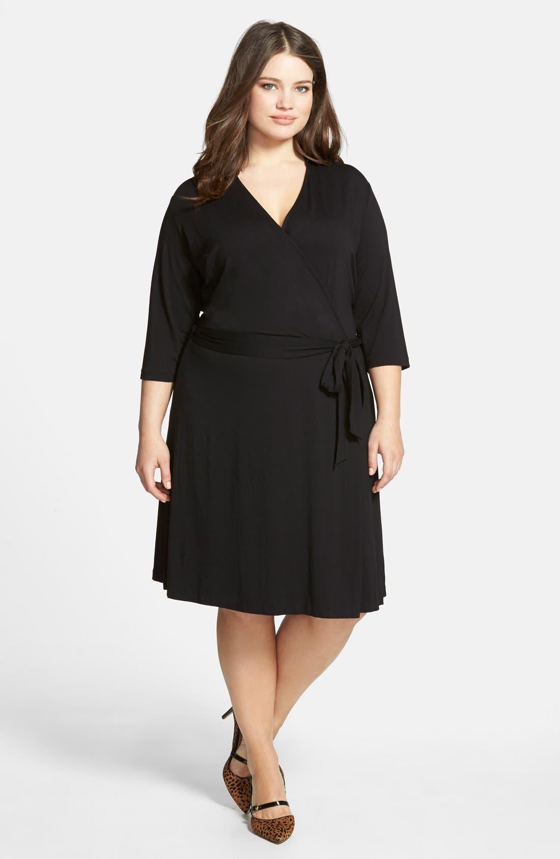 Alternate Image 3  - Vince Camuto Jersey Faux Wrap Dress (Plus Size)