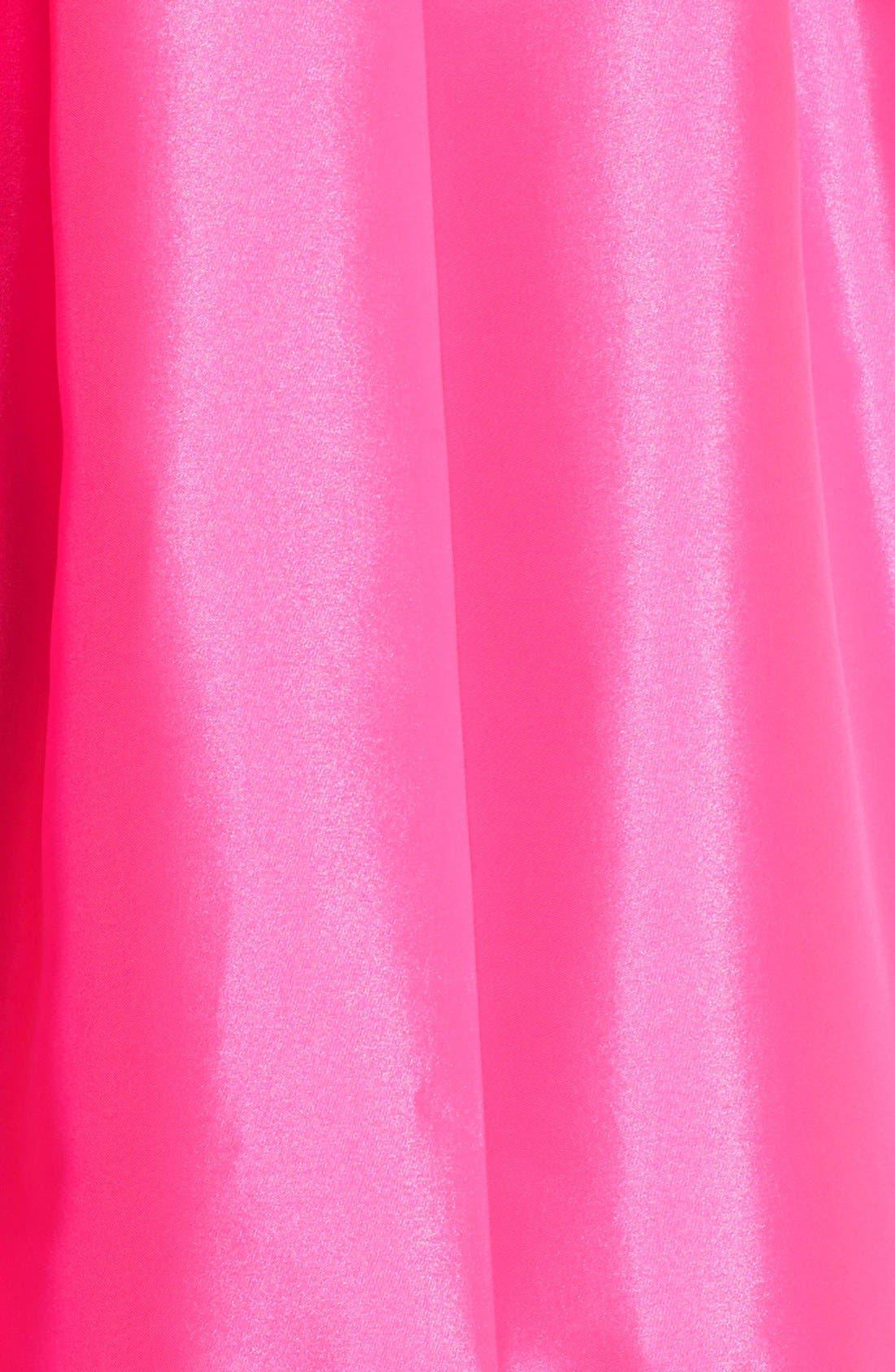 Alternate Image 4  - Kaya & Sloane Satin Fit & Flare Dress