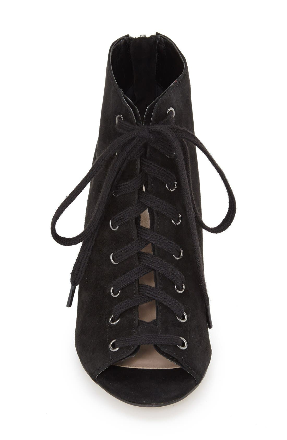 Alternate Image 3  - French Connection 'Quillan' Lace-Up Peep Toe Bootie (Women)