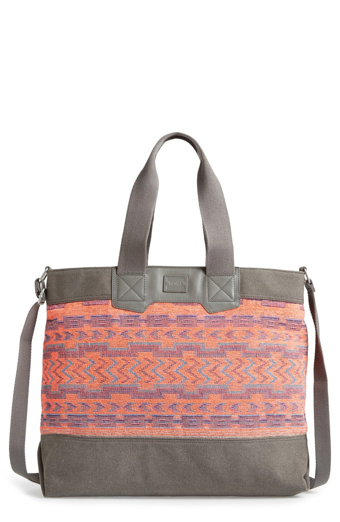 Alternate Image 1 Selected - TOMS 'Naturalist' Mixed Ikat Print Tote