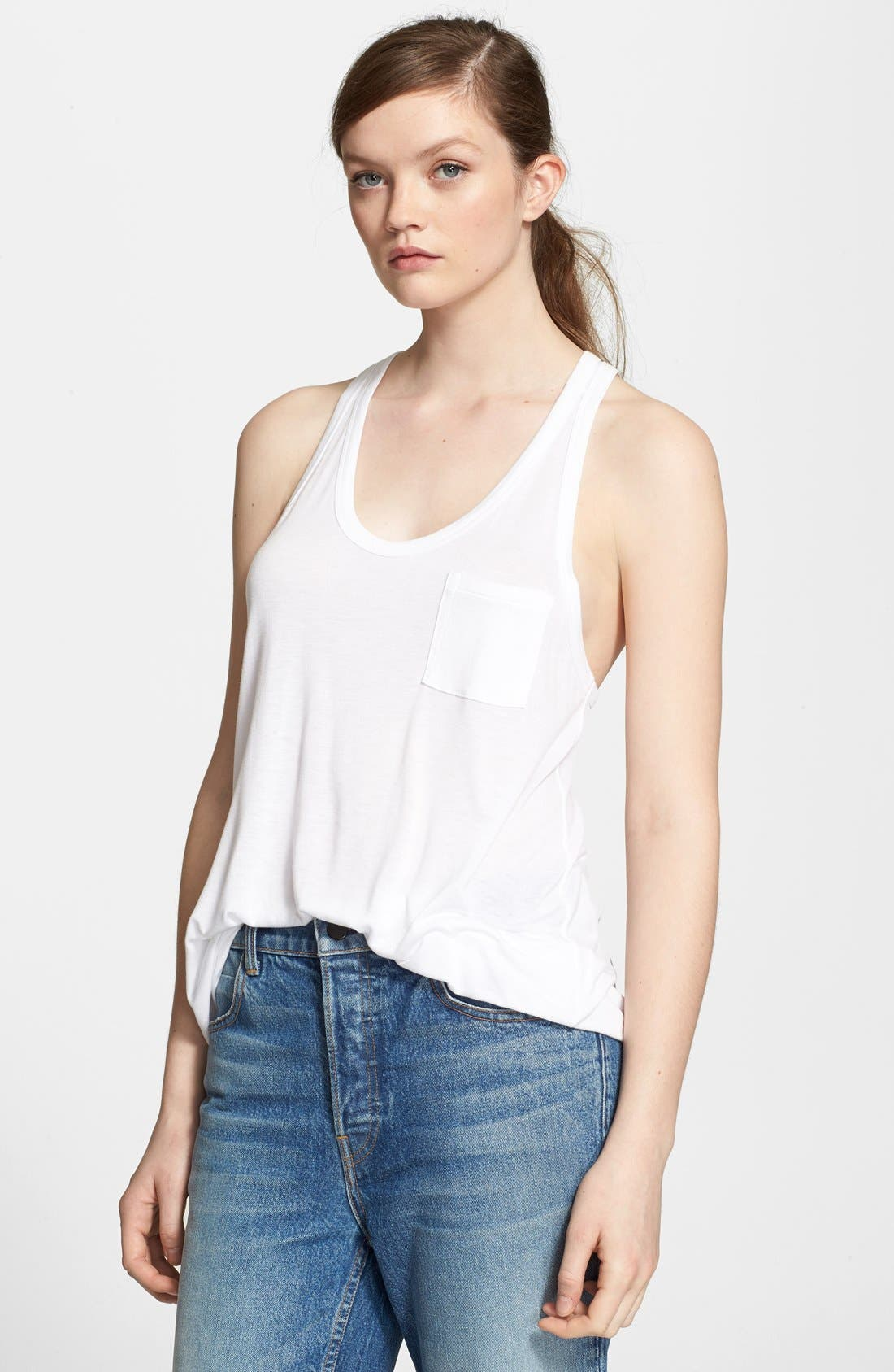 Alternate Image 1 Selected - T by Alexander Wang Knit Tank