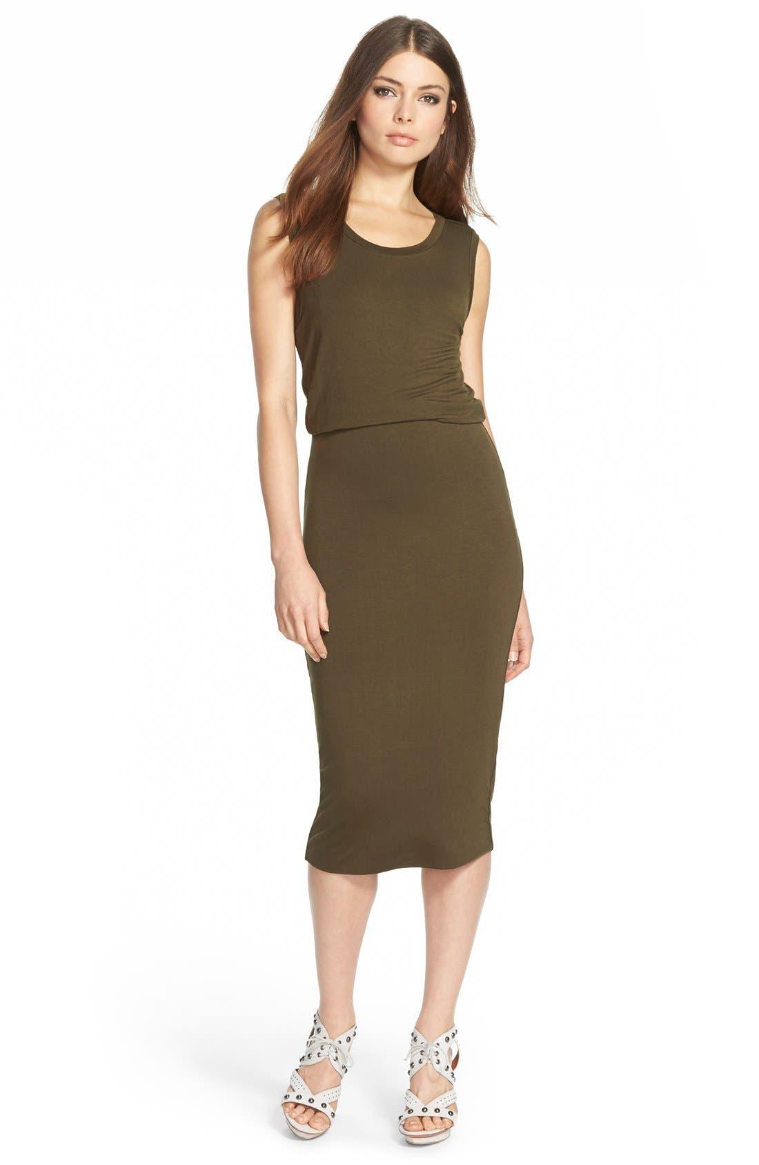 Main Image - Leith Sleeveless Midi Dress