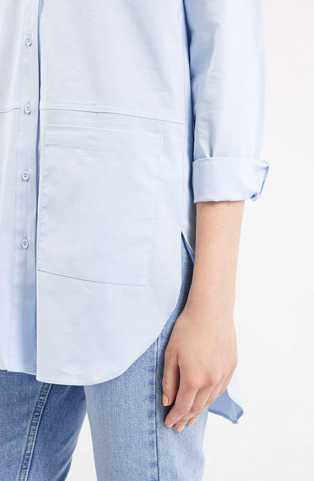 Alternate Image 4  - Topshop Oversize Button Front Shirt