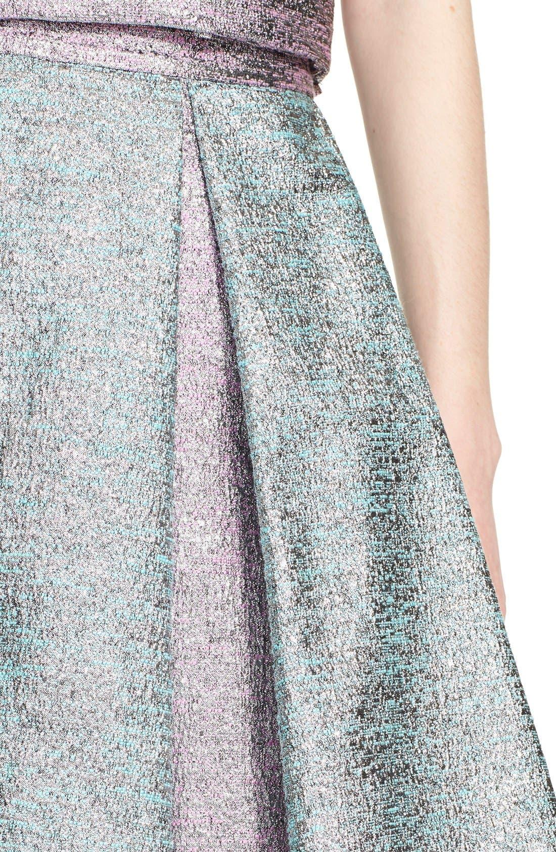 Alternate Image 6  - PASKAL Metallic Inverted Pleat Flared Skirt