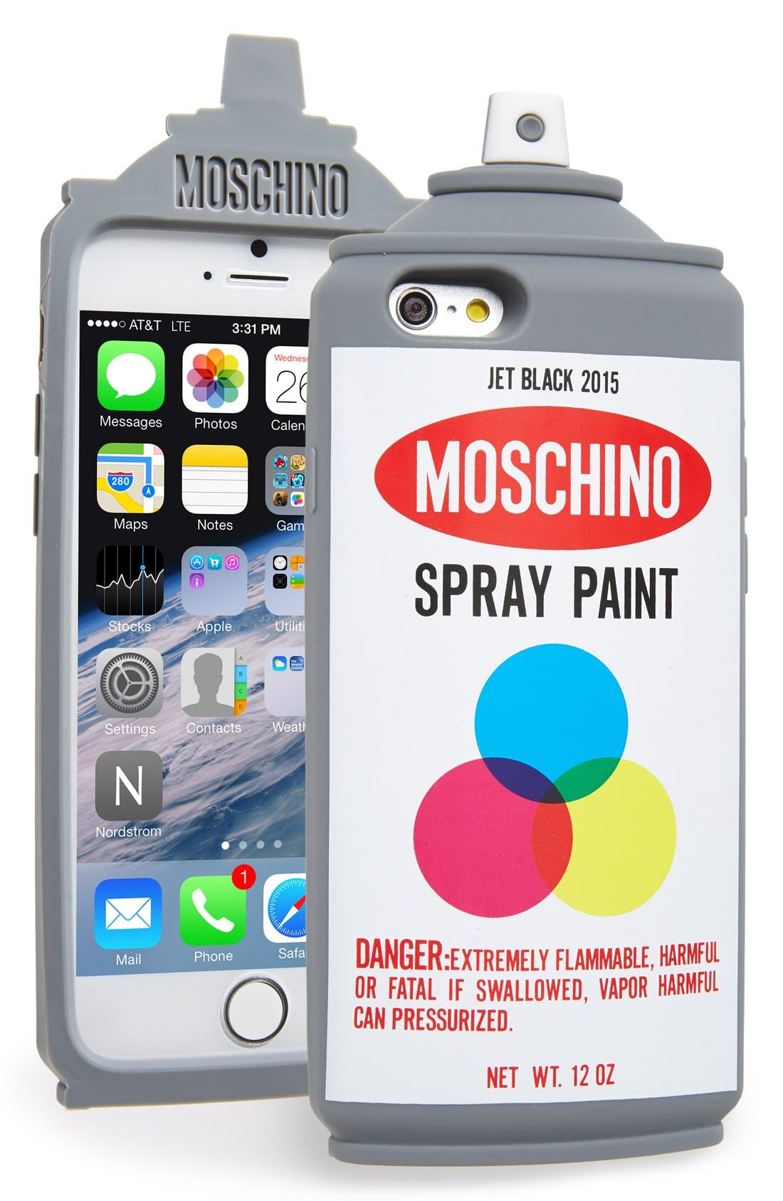 Alternate Image 1 Selected - Moschino Spray Paint Can iPhone 6 & 6s Case