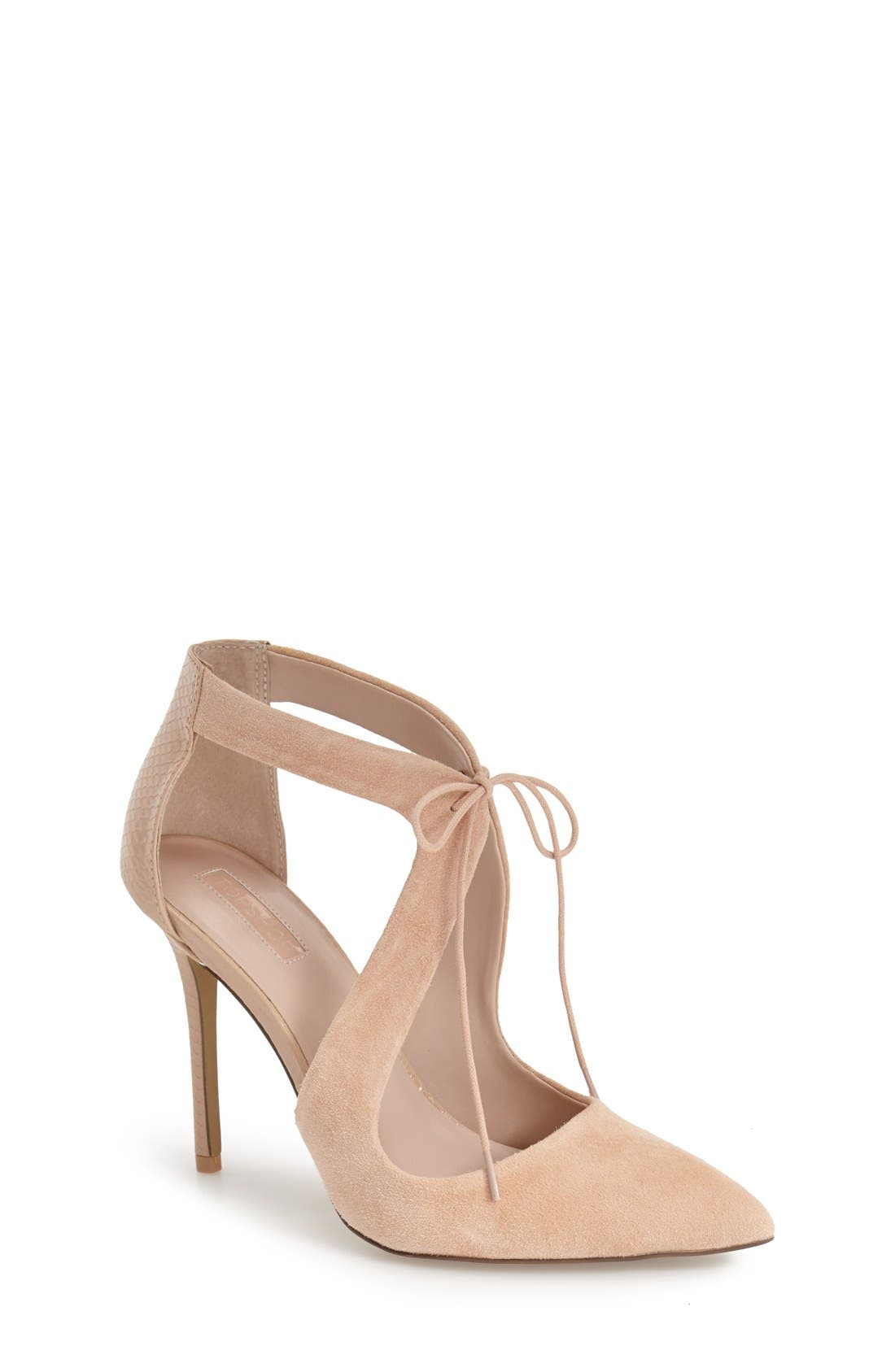 Alternate Image 1 Selected - Topshop 'Genie' Lace-Up Pump (Women)