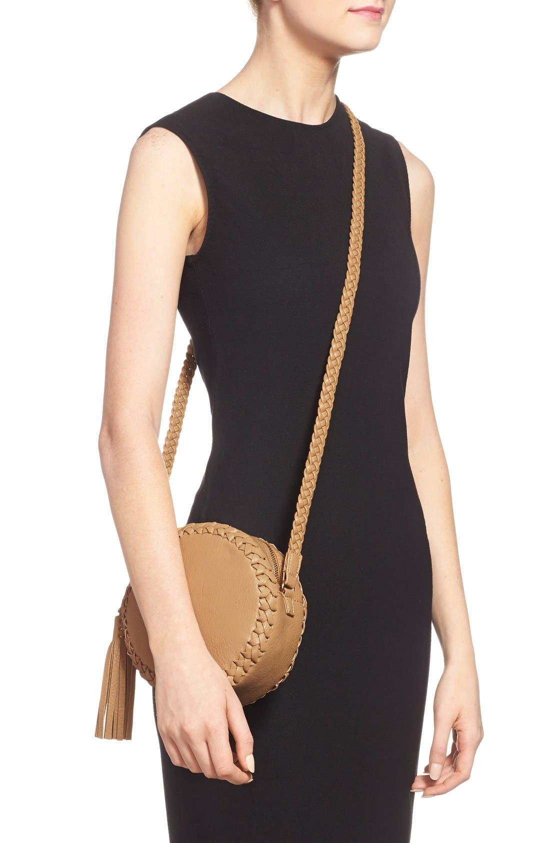 Alternate Image 2  - Big Buddha Faux Leather Round Crossbody Bag