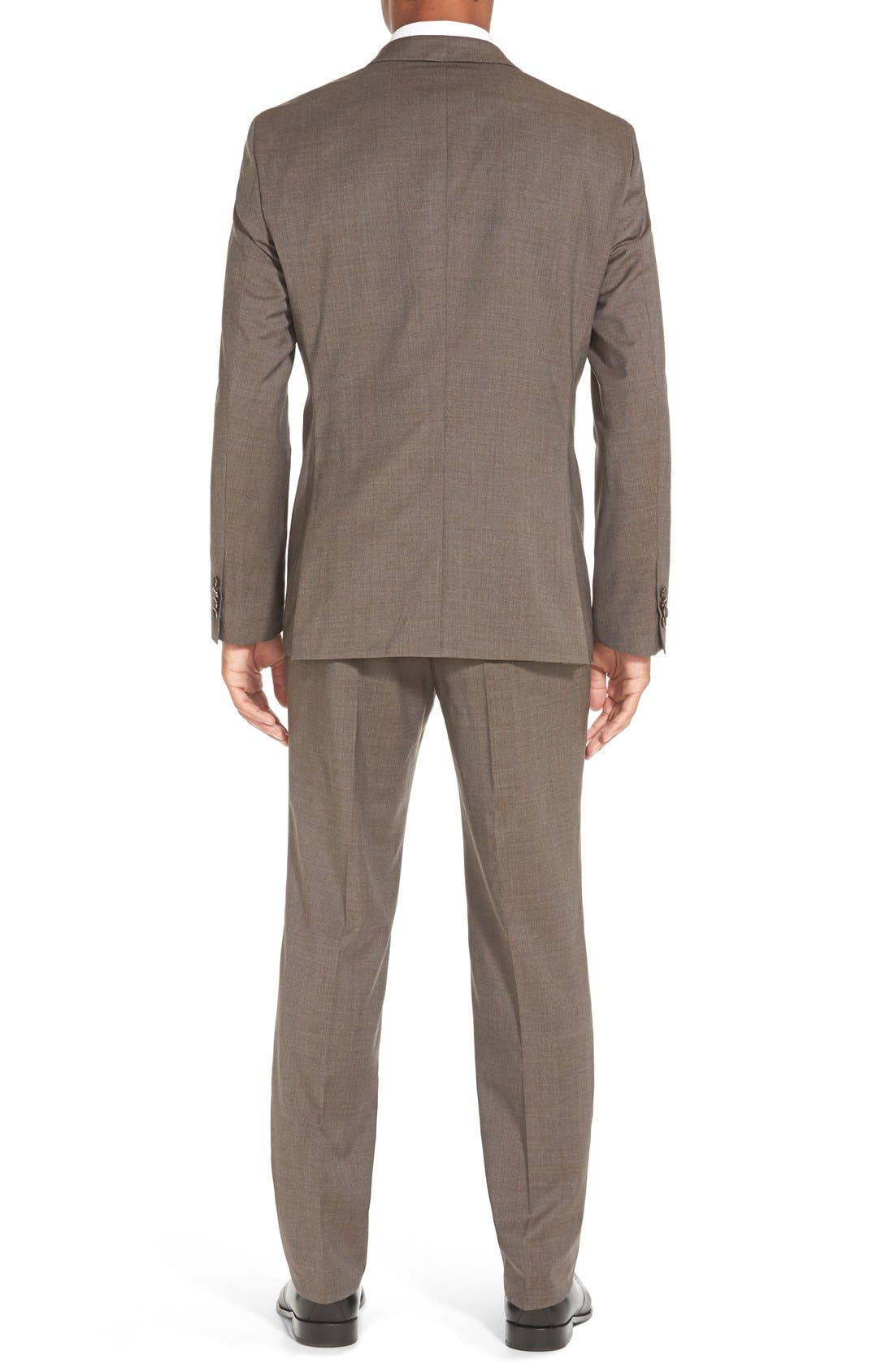 Alternate Image 2  - BOSS 'Johnstons/Lenon' Trim Fit Solid Wool Suit