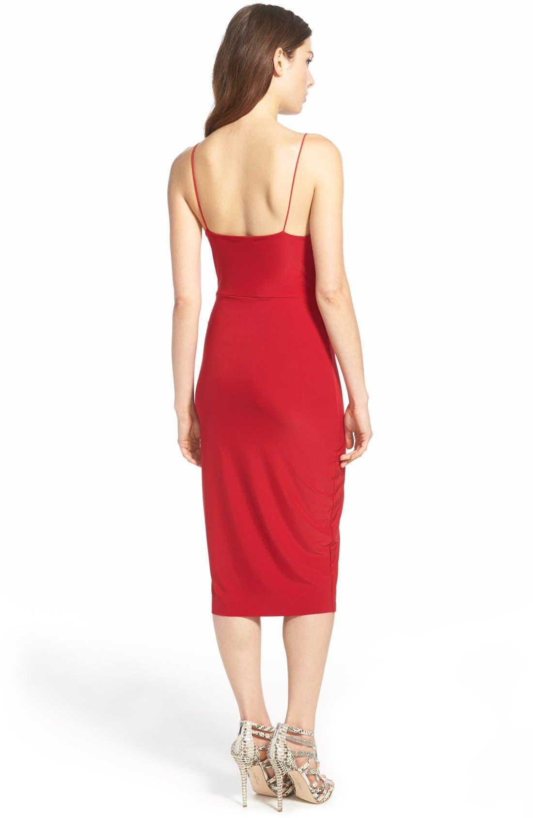 Alternate Image 2  - MissguidedV-Neck Midi Dress