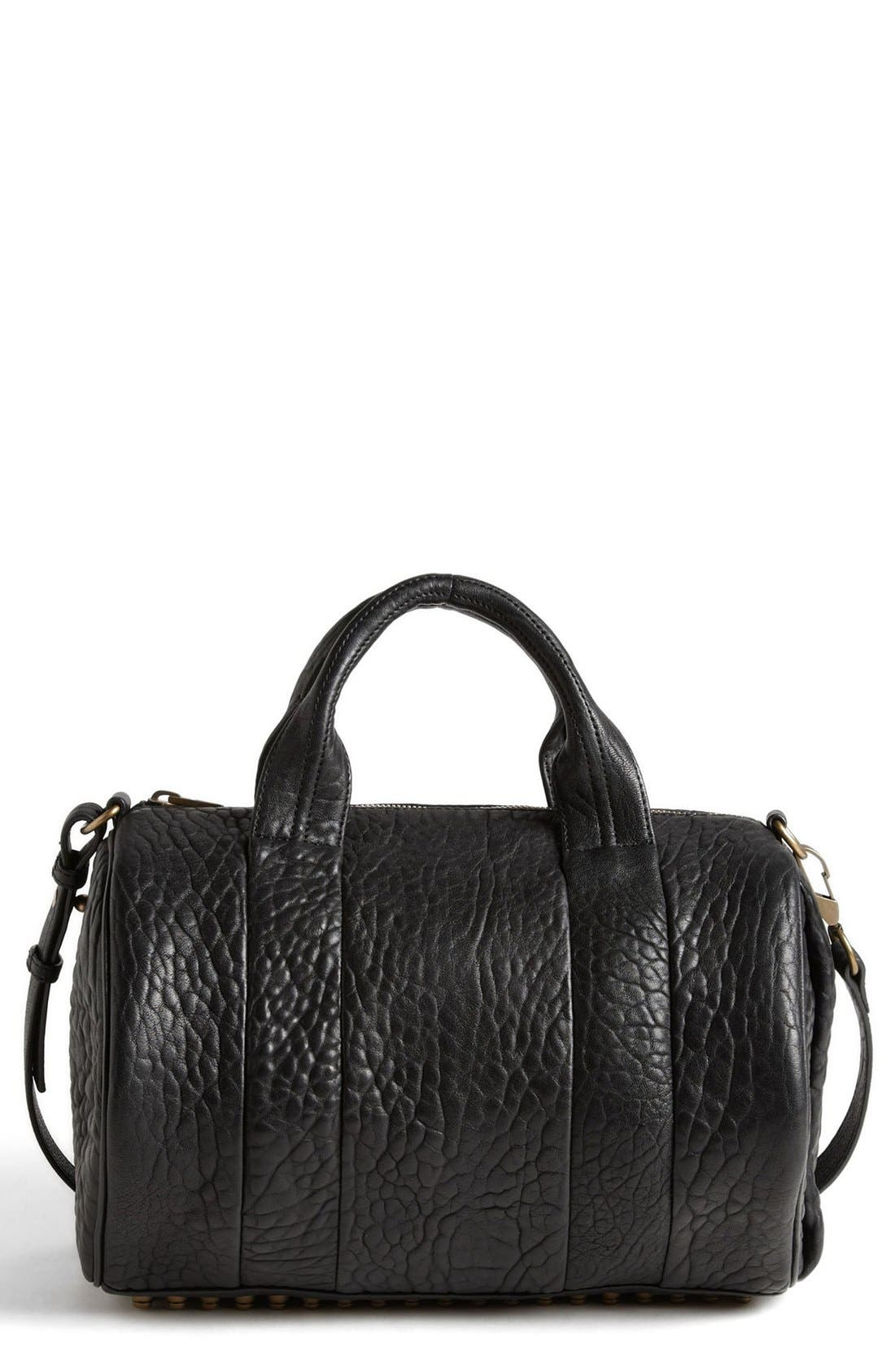 Alternate Image 1 Selected - Alexander Wang 'Rocco - Antique Brass' Leather Satchel