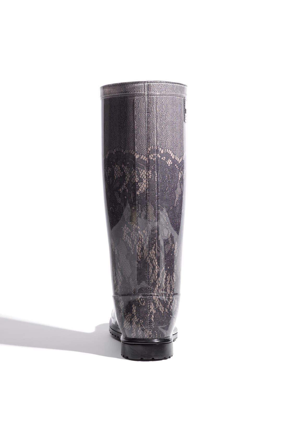 Alternate Image 3  - Valentino Lace Print Rain Boot (Women)