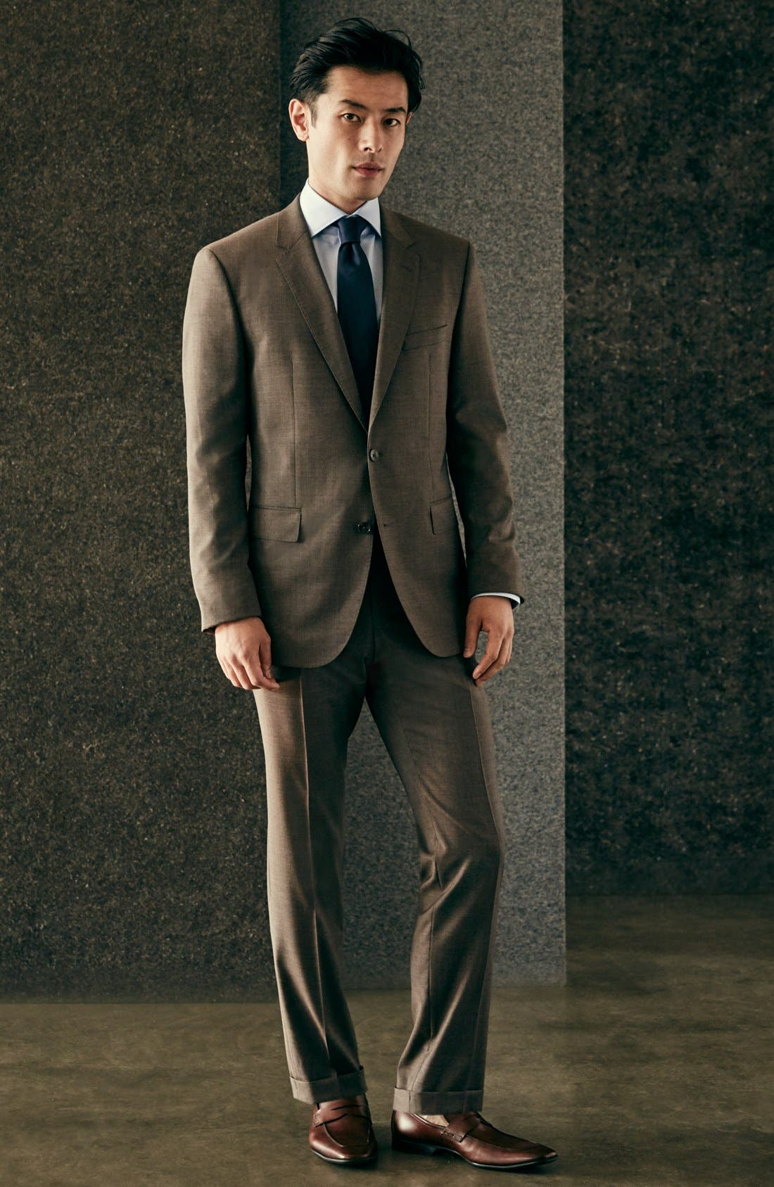 Alternate Image 7  - BOSS 'Johnstons/Lenon' Trim Fit Solid Wool Suit