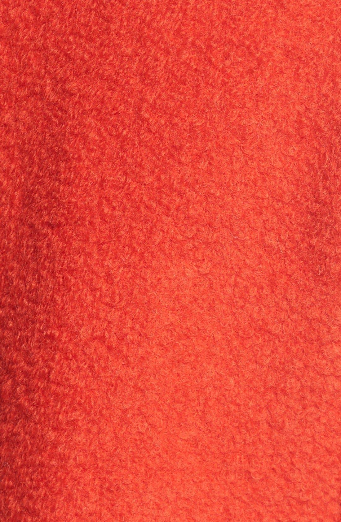 Alternate Image 3  - GUESS Bouclé Asymmetrical Zip Coat