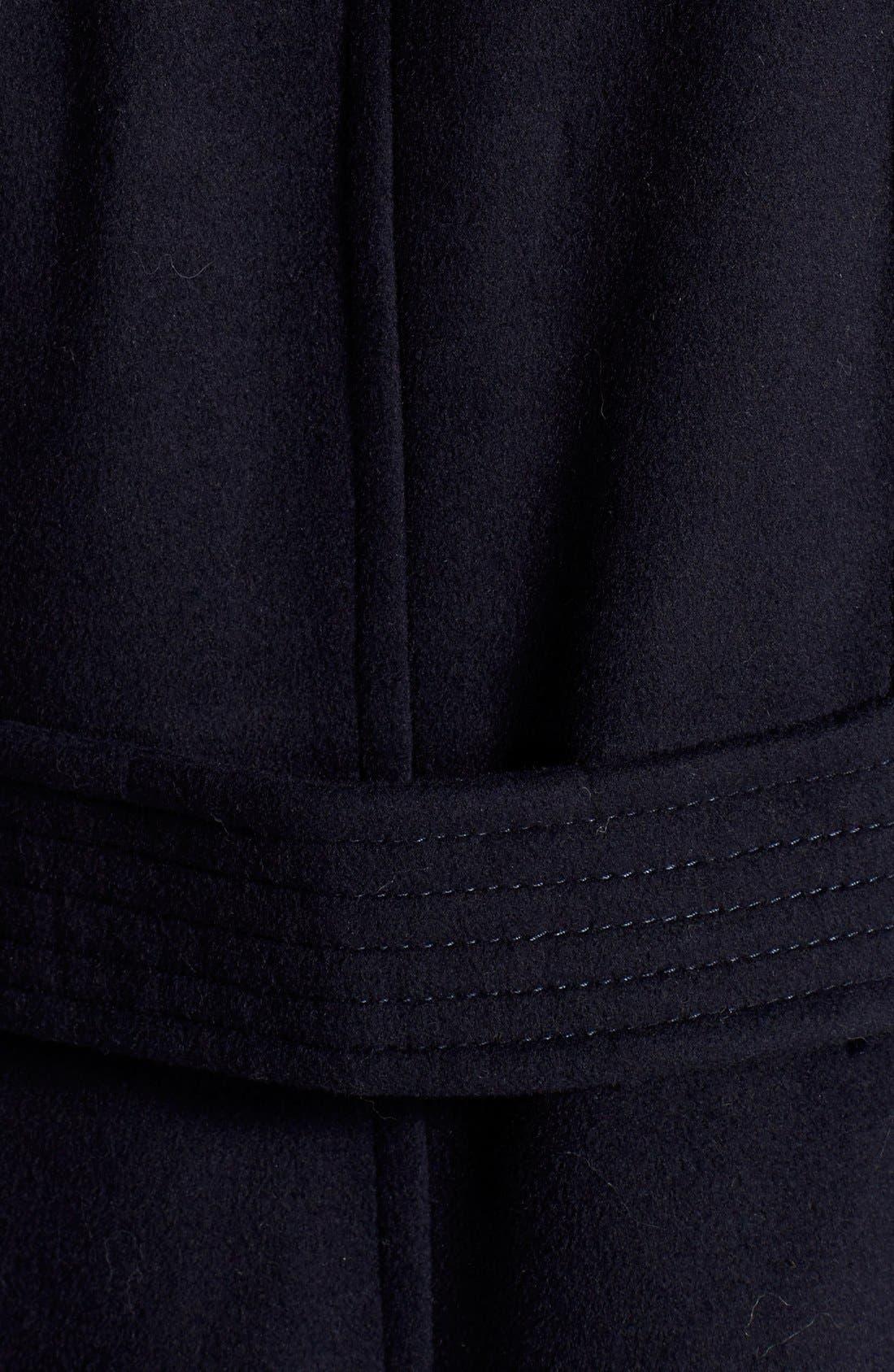 Alternate Image 3  - BCBGMAXAZRIA Faux Leather Trim Wool Blend Duffle Coat with Inset Bib