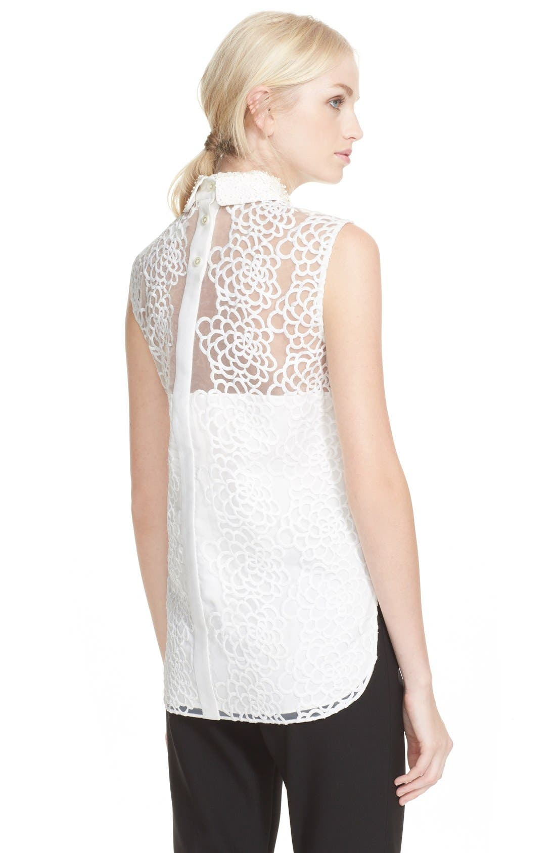 Alternate Image 3  - kate spade new york sleeveless floral organza top