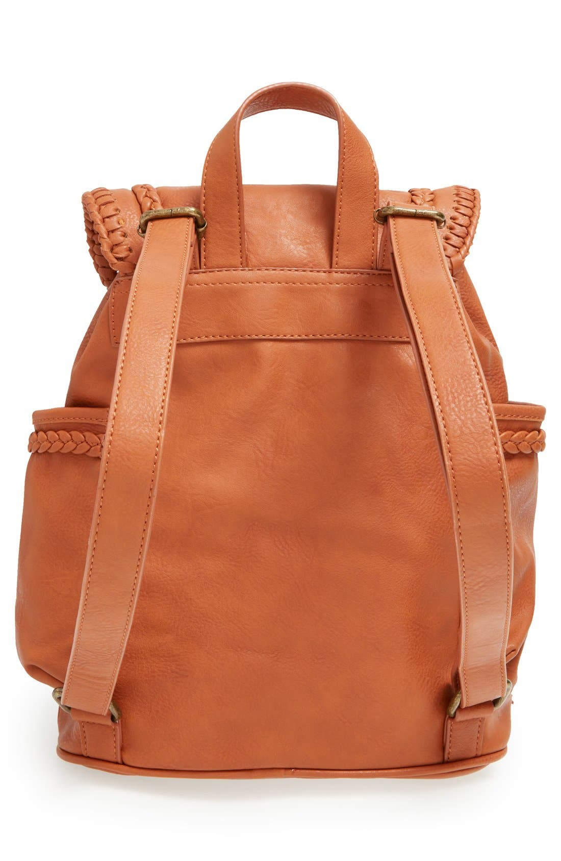 Alternate Image 3  - Dolce Girl Braided Faux Leather Backpack