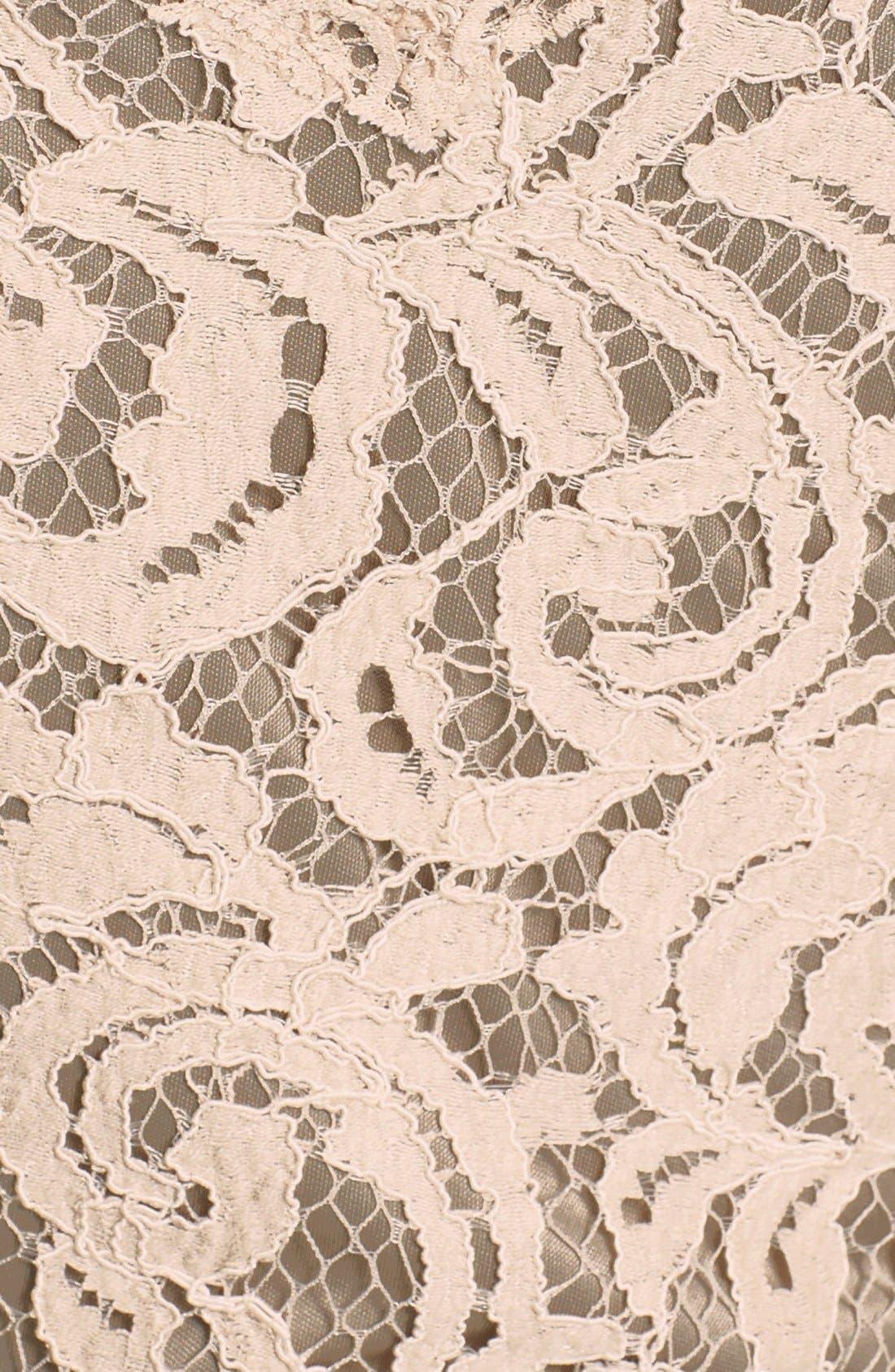 Alternate Image 5  - Tadashi Shoji Two-Tone Lace Sheath Dress (Regular & Petite)