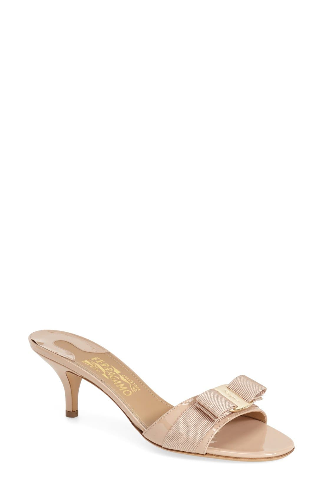 Main Image - Salvatore Ferragamo 'Glory' Bow Trim Sandal