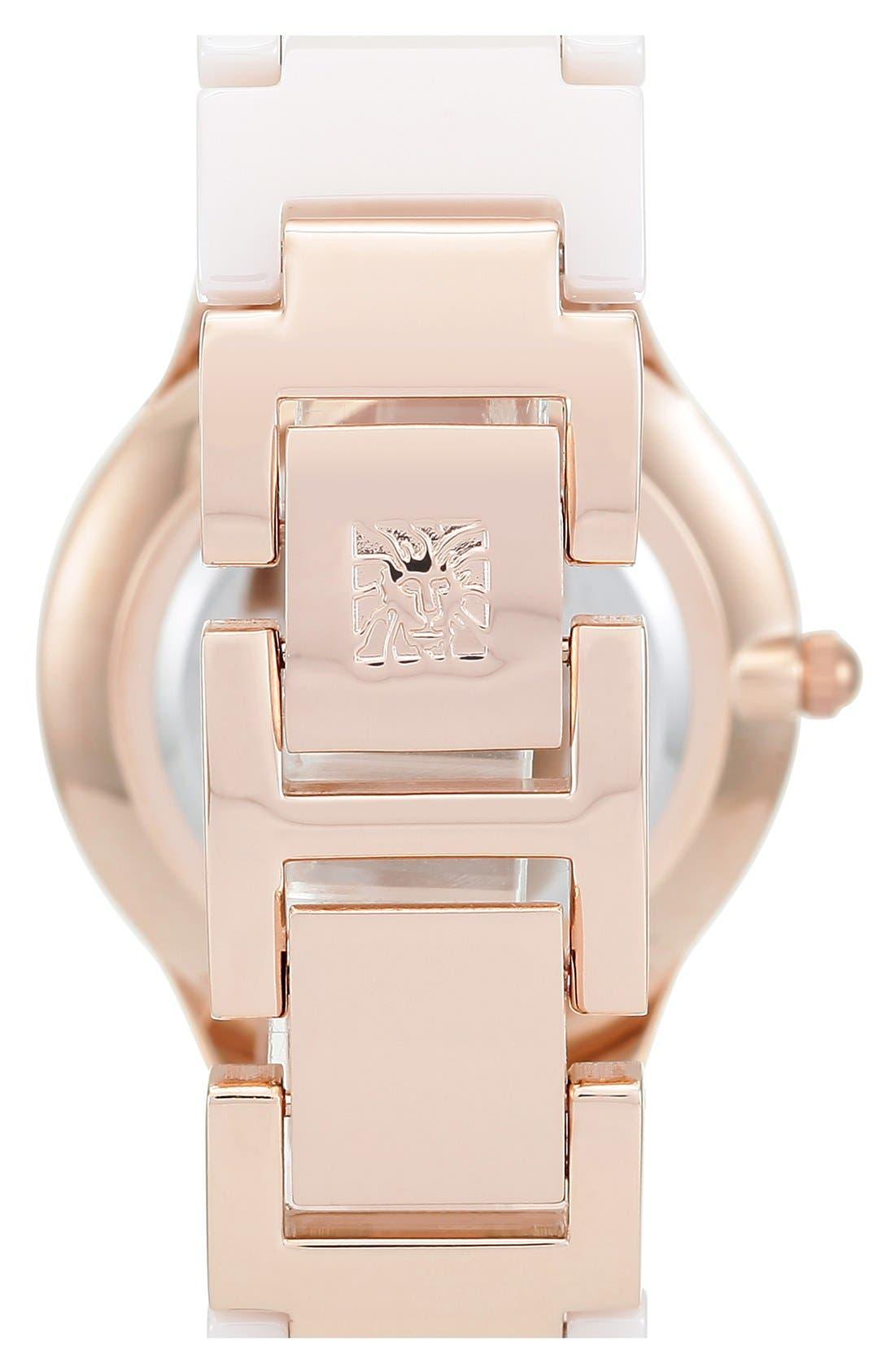 Alternate Image 2  - Anne Klein Ceramic Bracelet Watch, 30mm