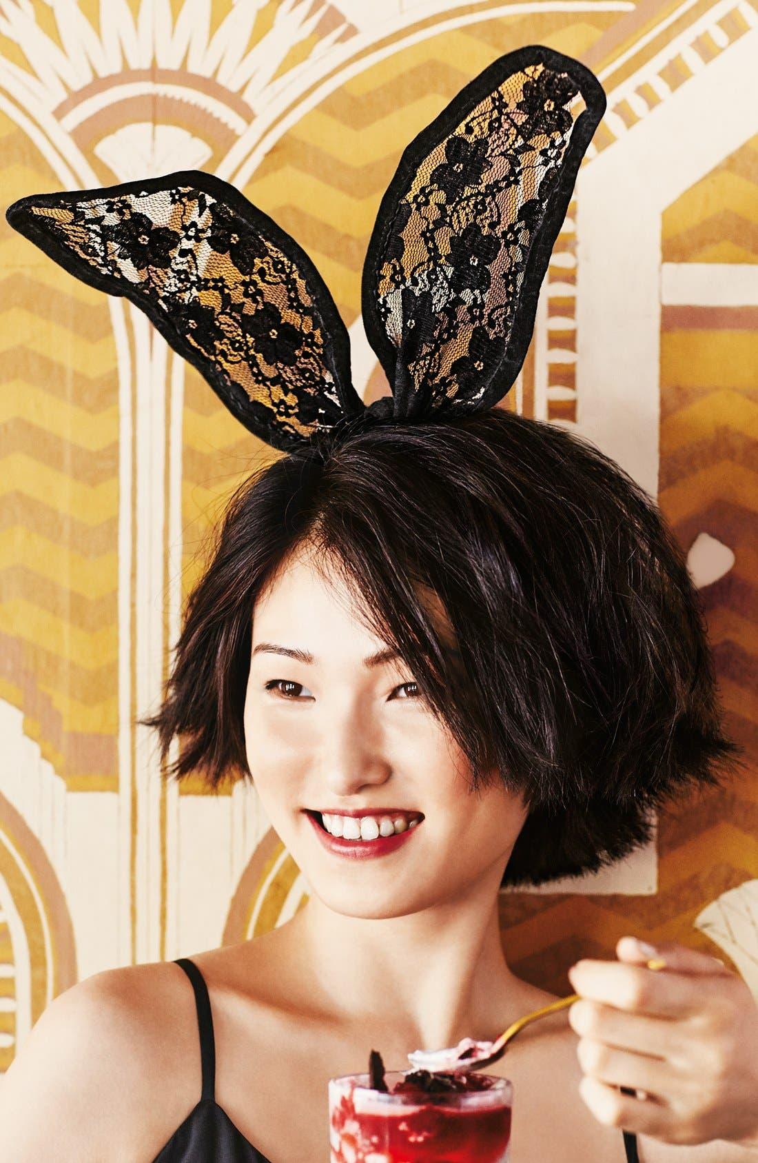 Alternate Image 2  - Cara 'Drama' Lace Bunny Ear Headband