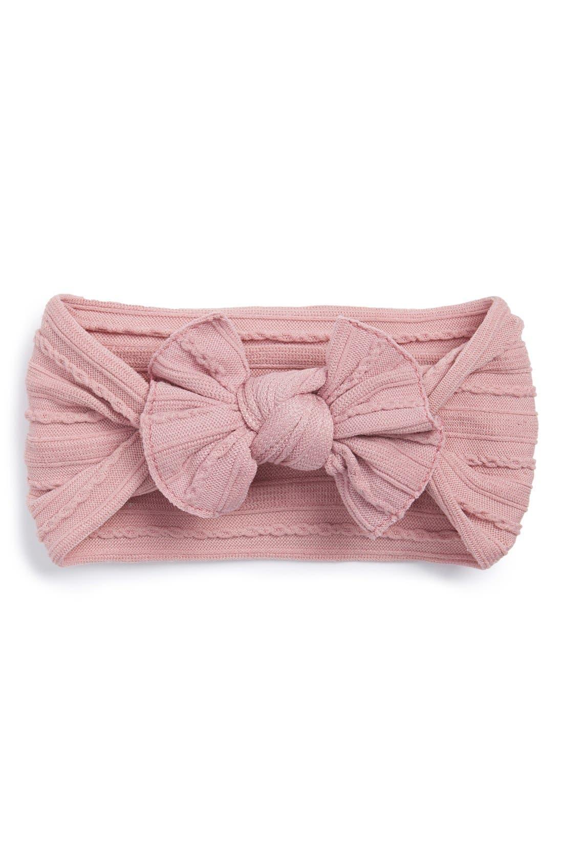 Baby BlingCable Knit Bow Headband (Baby Girls)