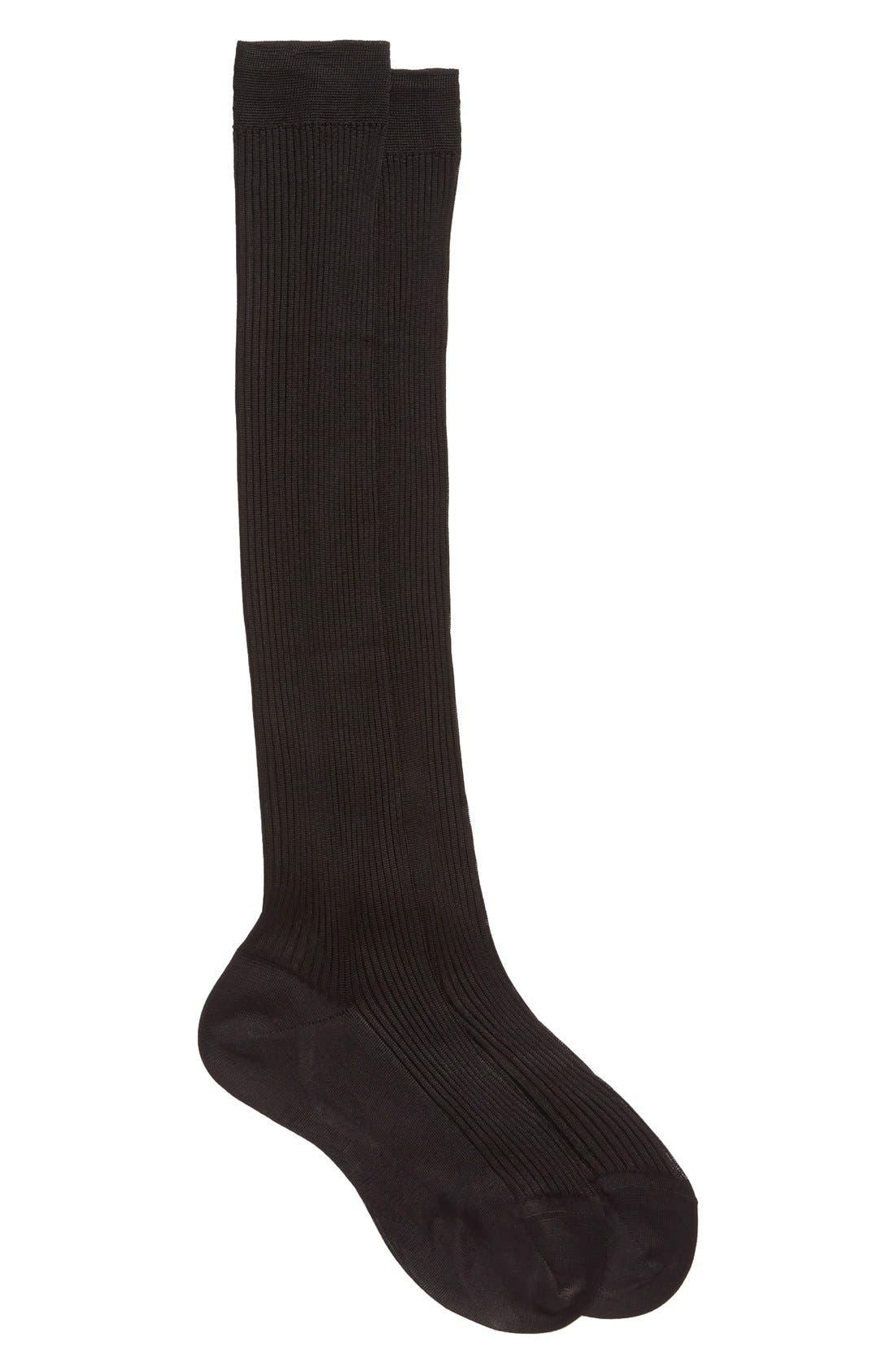 Main Image - Maria la Rosa Knee HighSilk Socks