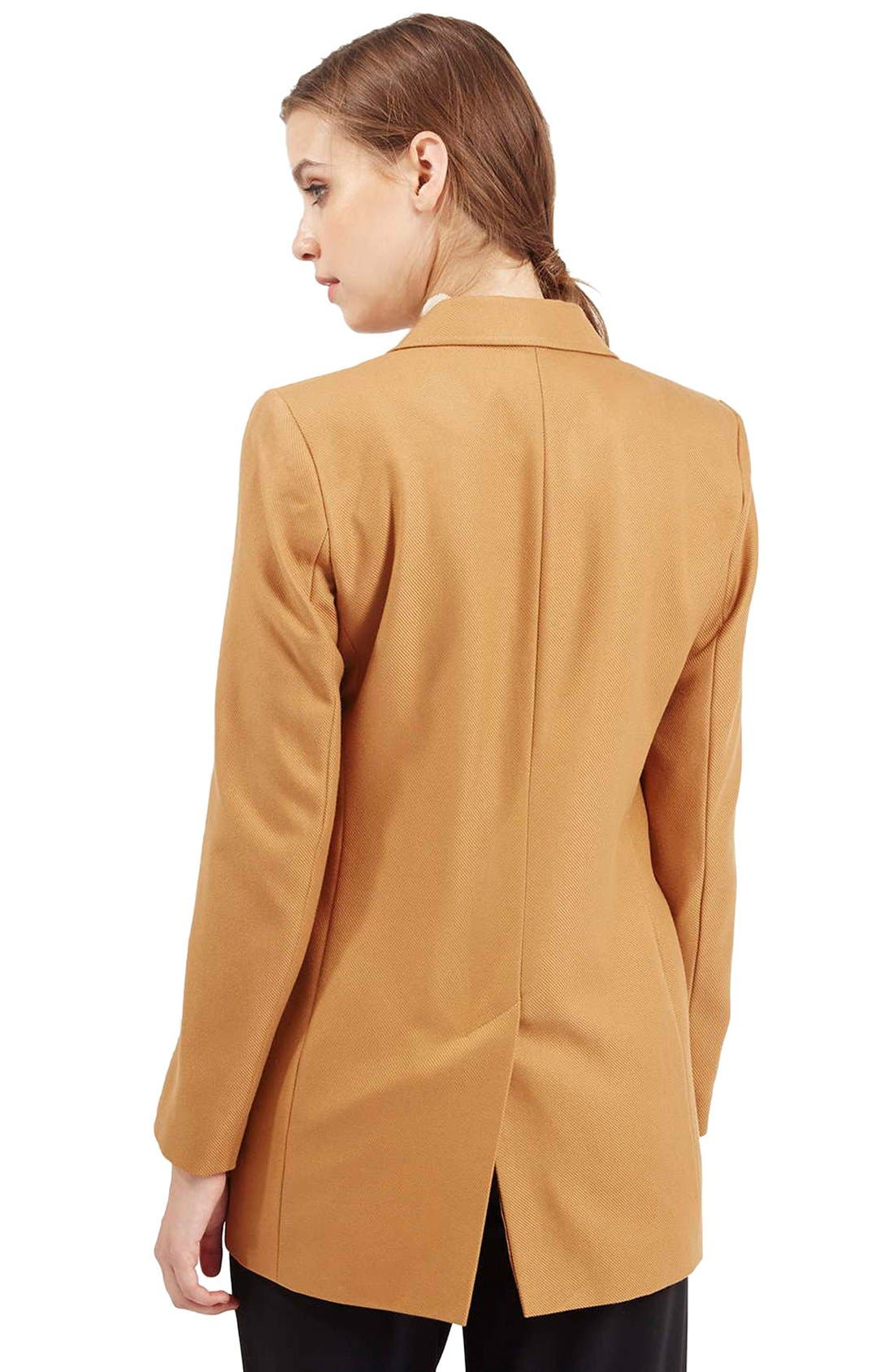 Alternate Image 3  - Topshop '70s Twill Longline Jacket