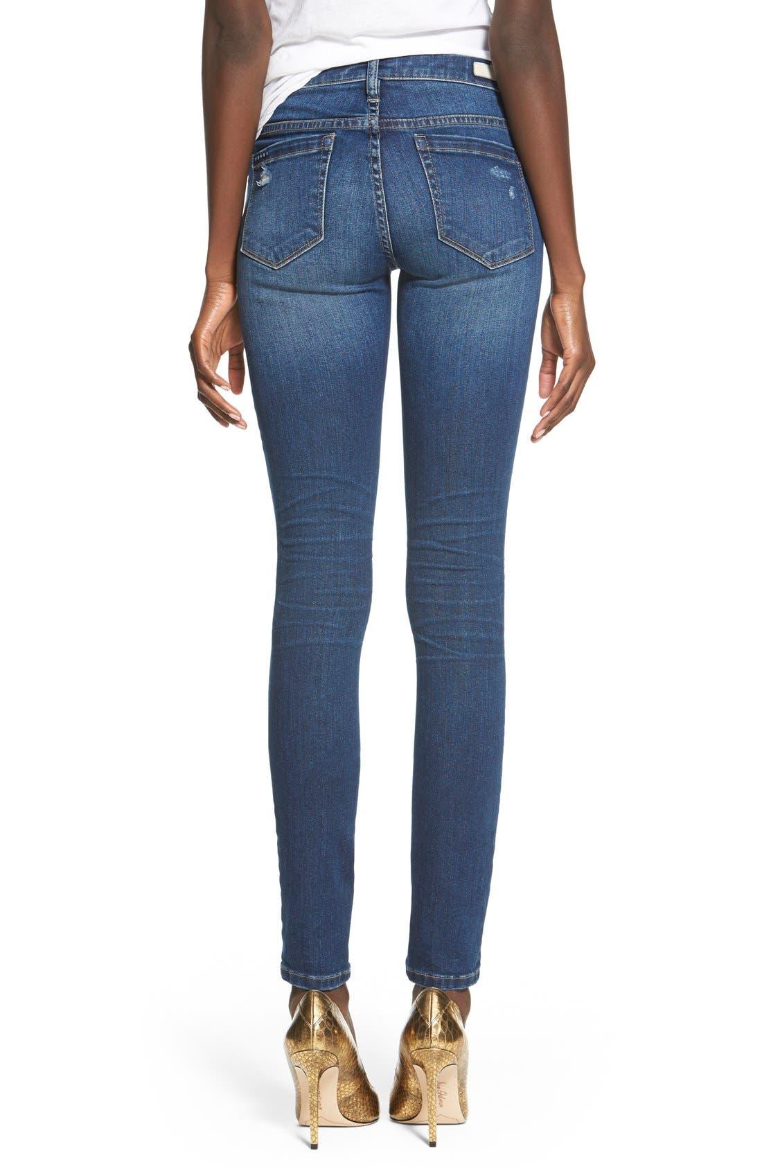 Alternate Image 3  - BLANKNYC'Hotel' Distressed Skinny Jeans (Blue)