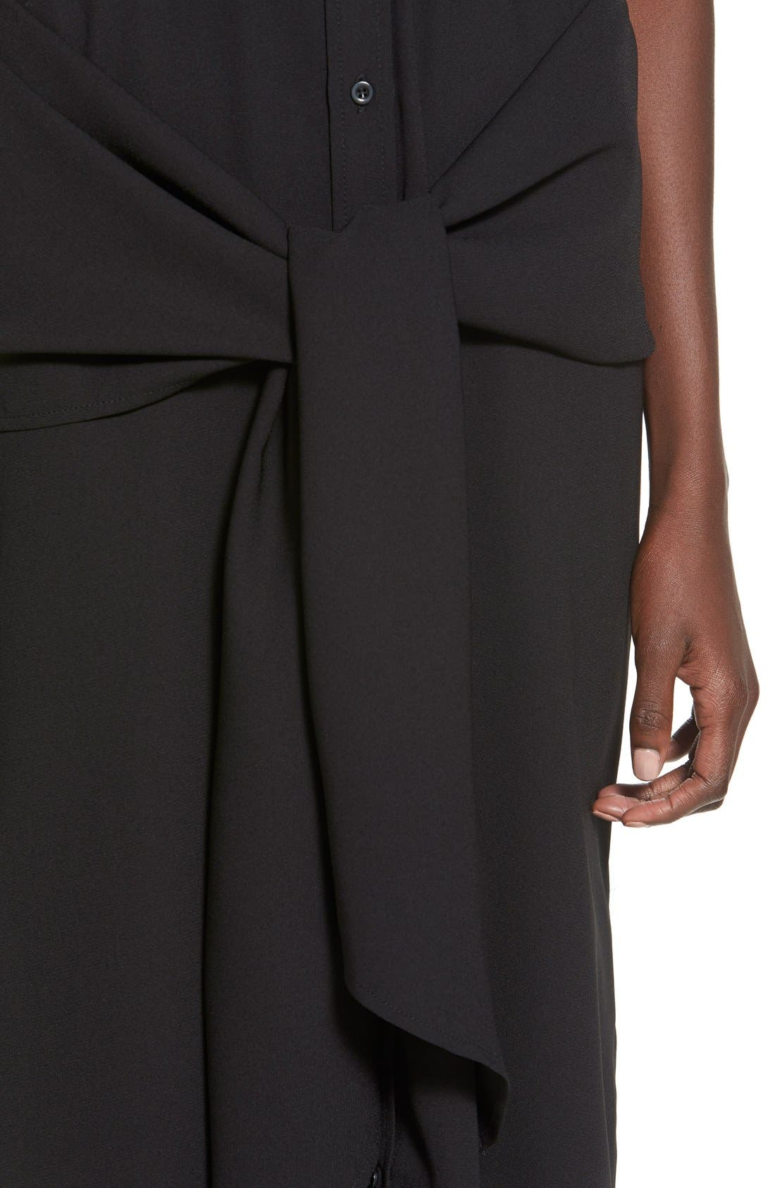 Alternate Image 4  - C/MEO Collective 'No Limit' Tie Front Midi Shirtdress