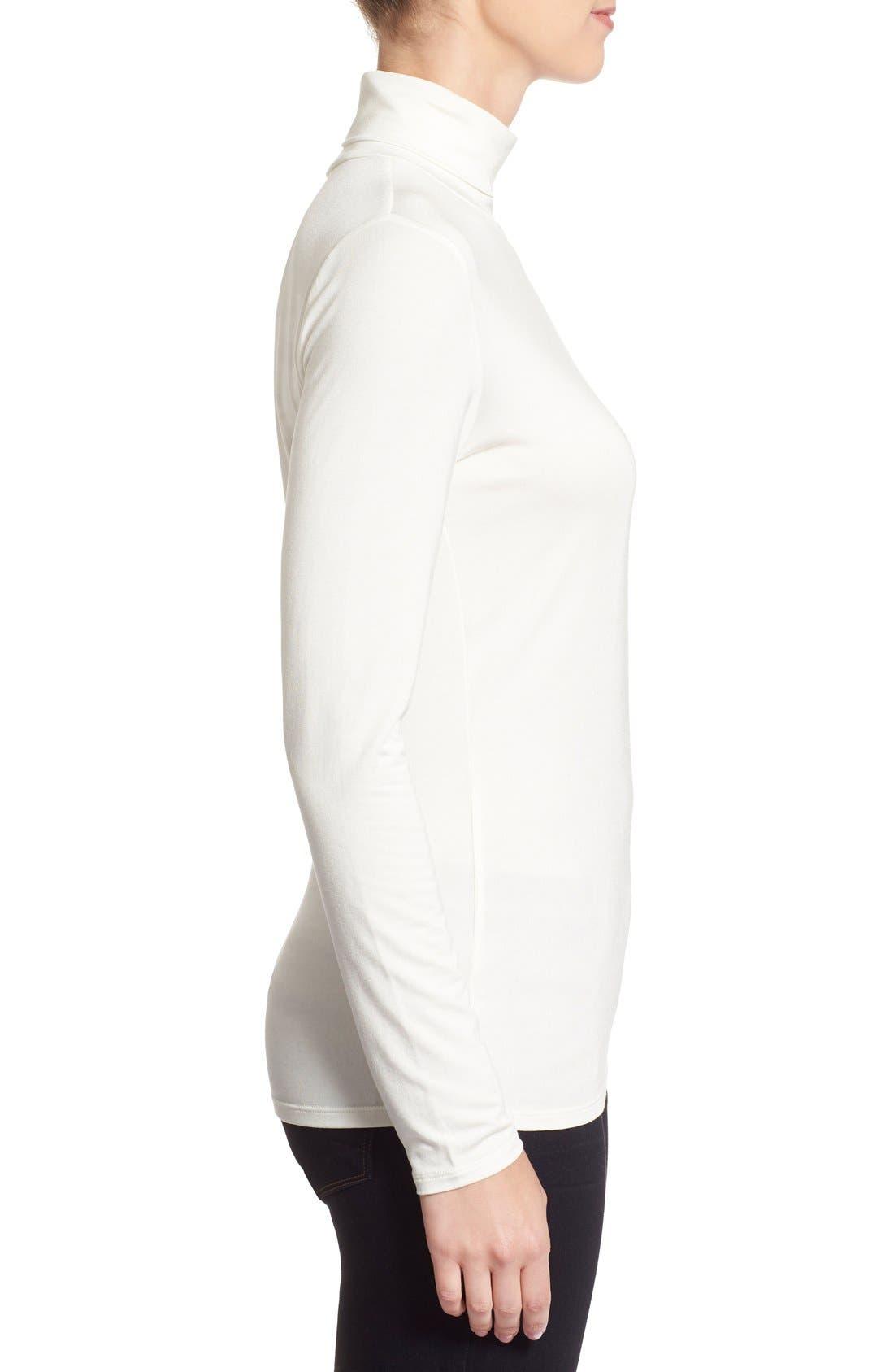 Alternate Image 3  - Nordstrom Collection 'Ultimate' Stretch Modal Turtleneck Top
