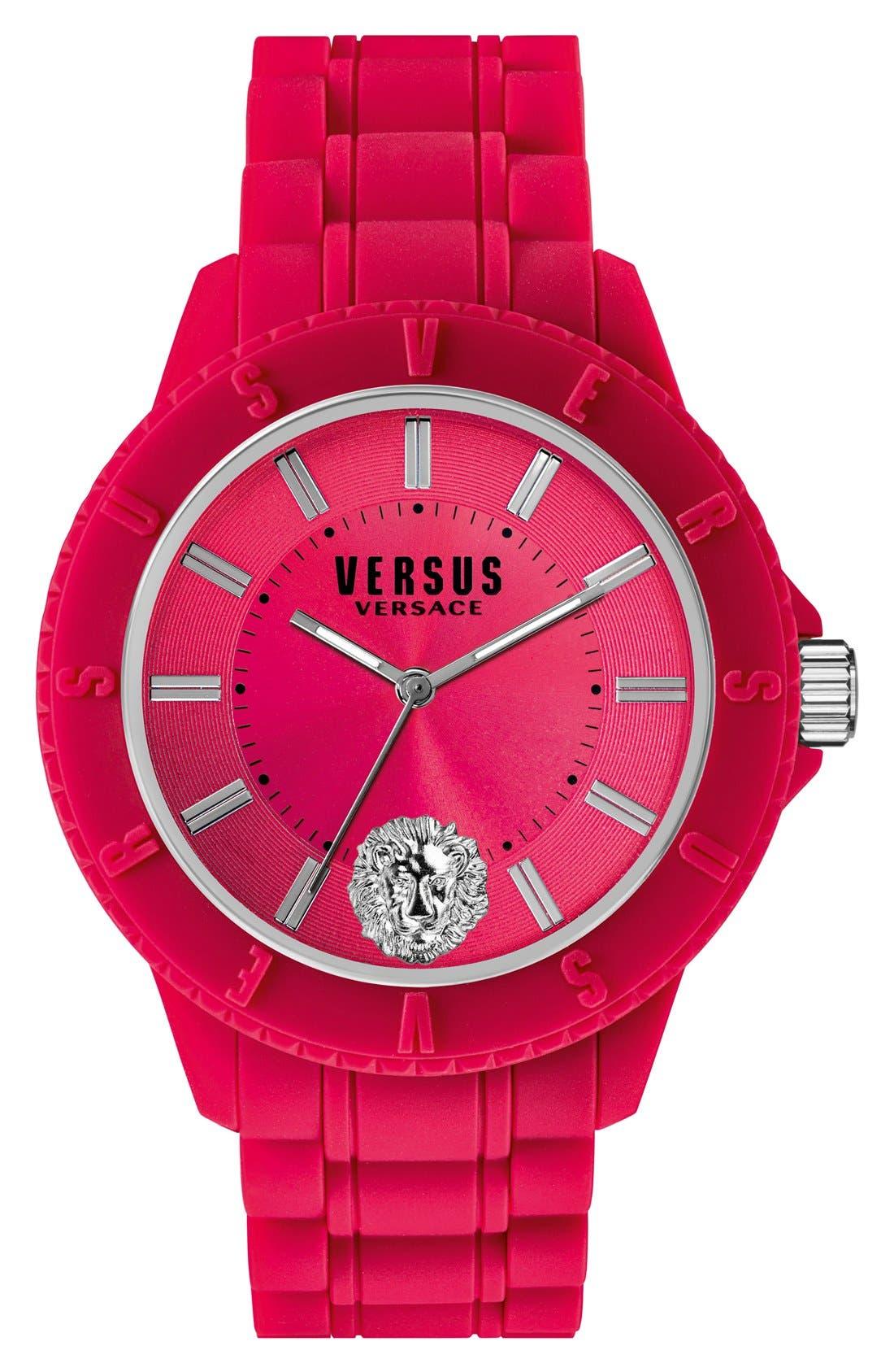 Main Image - VERSUS by Versace'Tokyo' Rubber Strap Watch, 42mm
