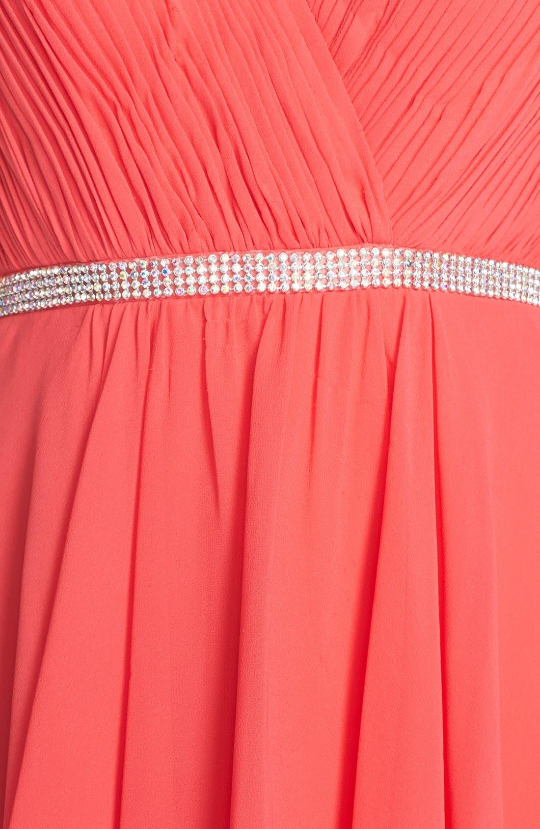 Alternate Image 6  - FavianaEmbellished Chiffon Fit& Flare Dress
