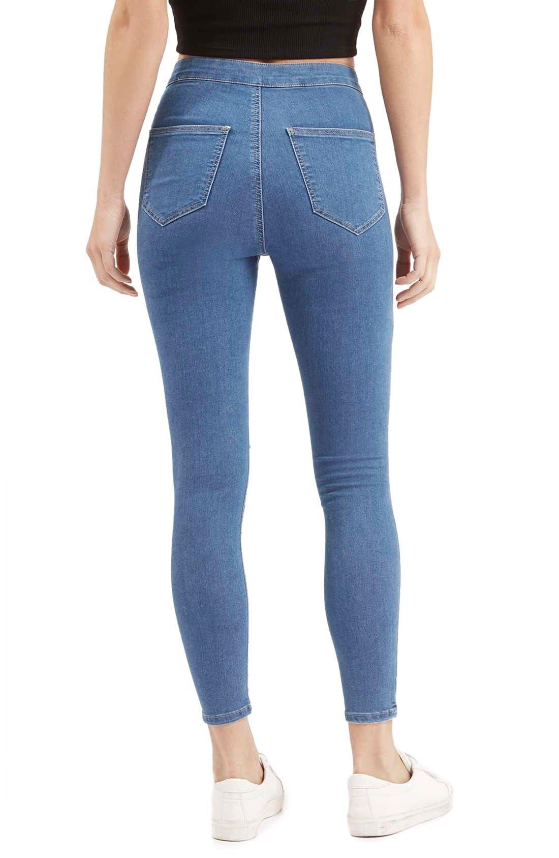 Alternate Image 3  - Topshop 'Joni' RippedHigh Rise Skinny Jeans (Petite)