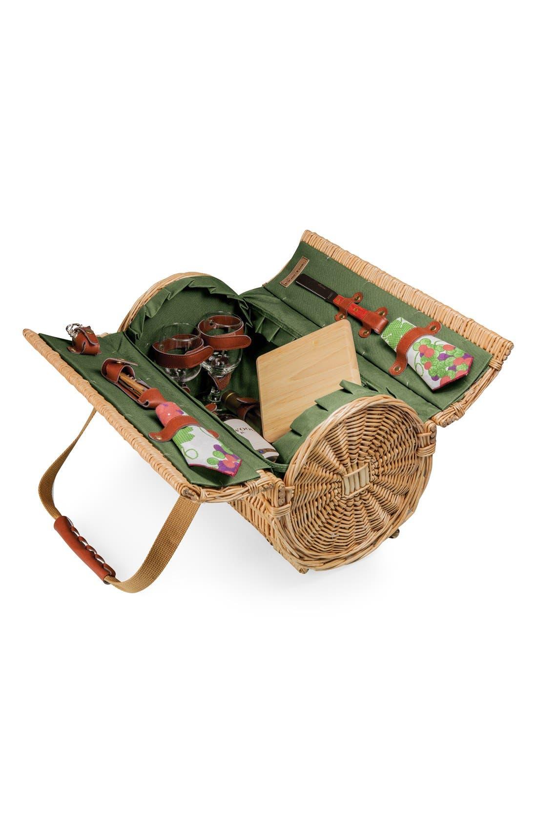 Alternate Image 1 Selected - Picnic Time 'Verona' Wicker Picnic Basket