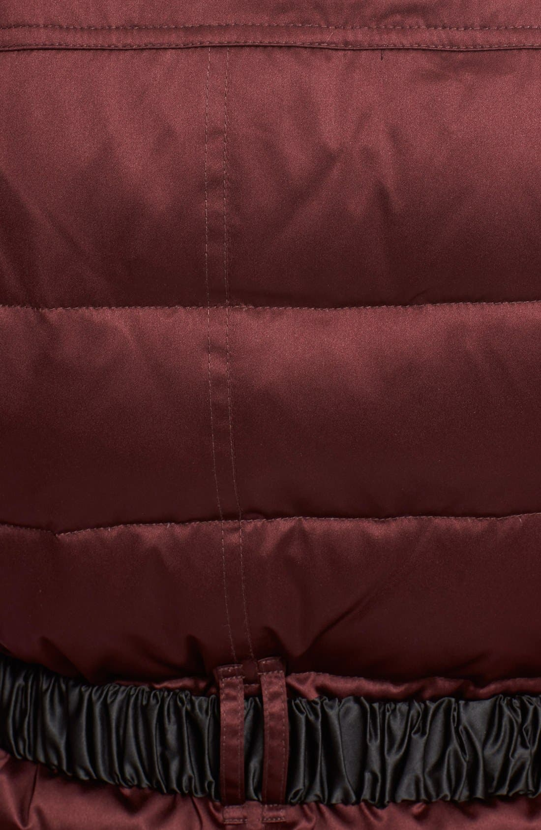Alternate Image 3  - BurberryBrit Belted Down Jacket withGenuineFoxFurCollar