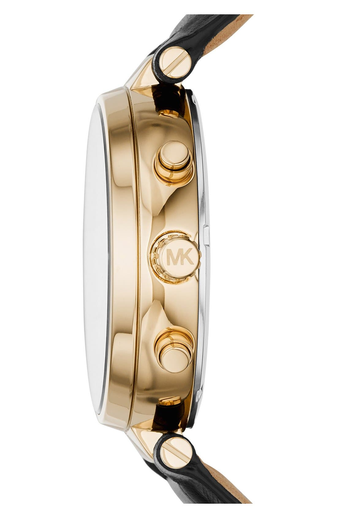 Alternate Image 2  - MICHAEL Michael Kors 'Sawyer' Leather Strap Watch, 39mm
