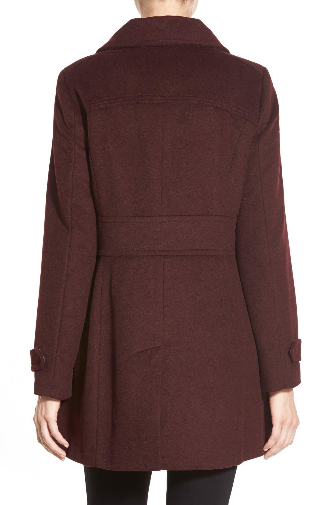 Alternate Image 2  - Cole HaanSignature Stand Collar Wool Blend Coat