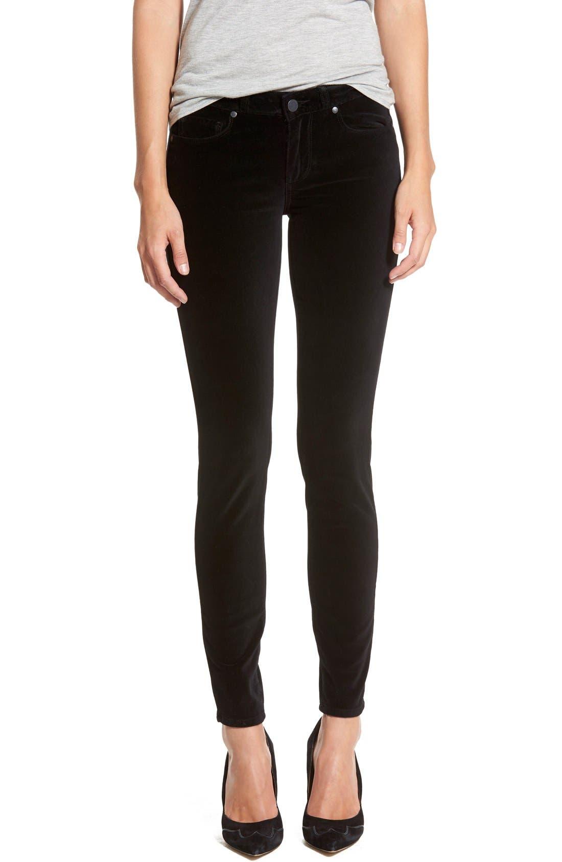 Main Image - Paige Denim 'Verdugo' Velvet Skinny Jeans